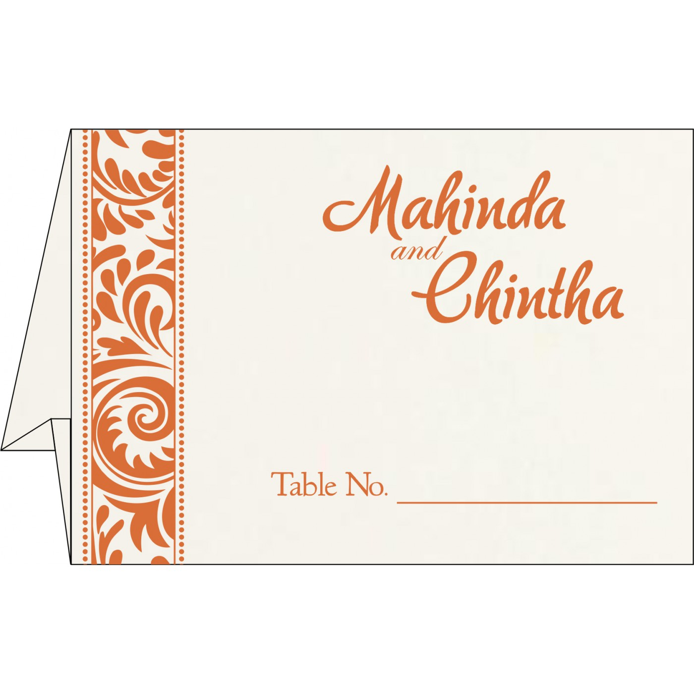 Place Cards : TC-8235G - 123WeddingCards