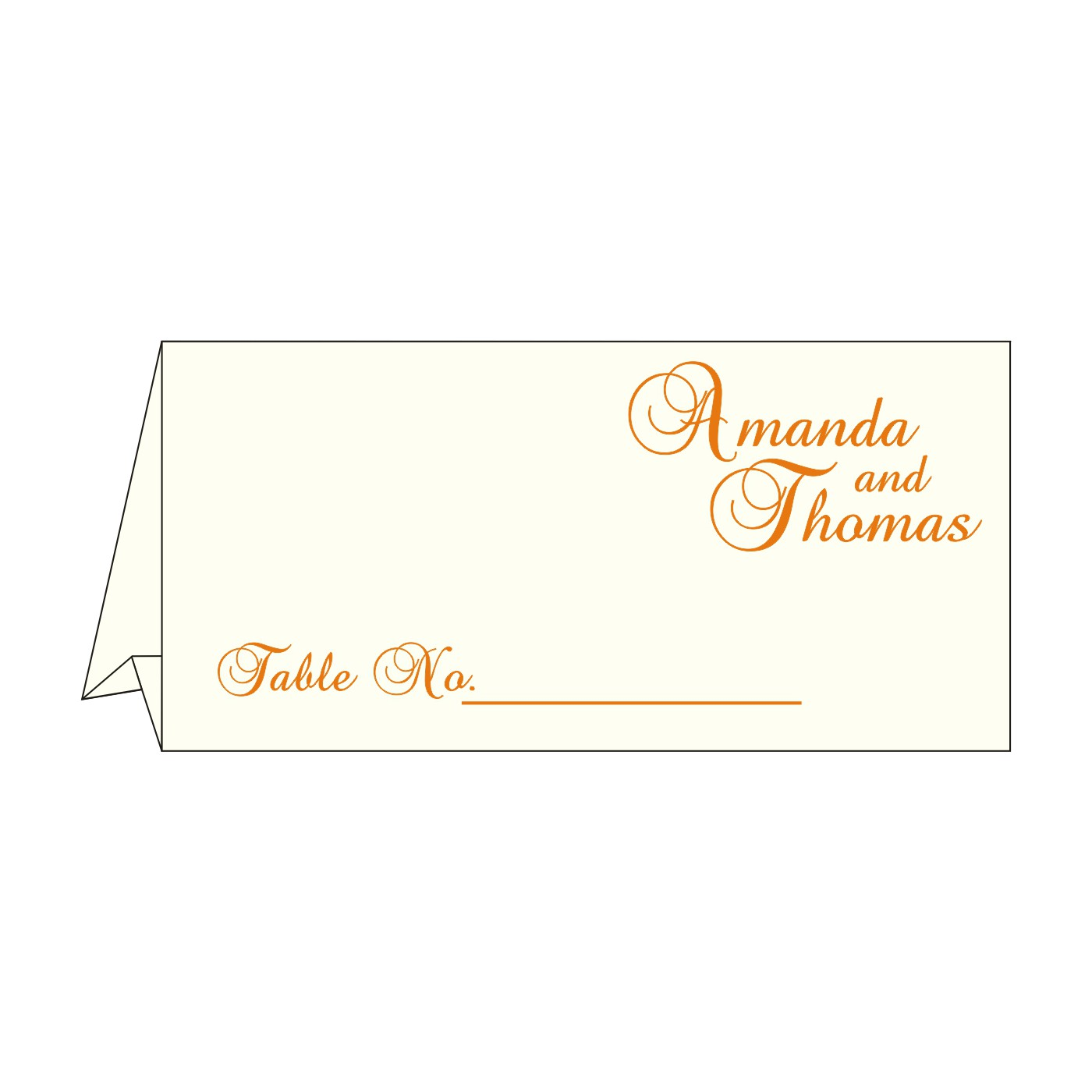 Place Cards : TC-8237K - 123WeddingCards