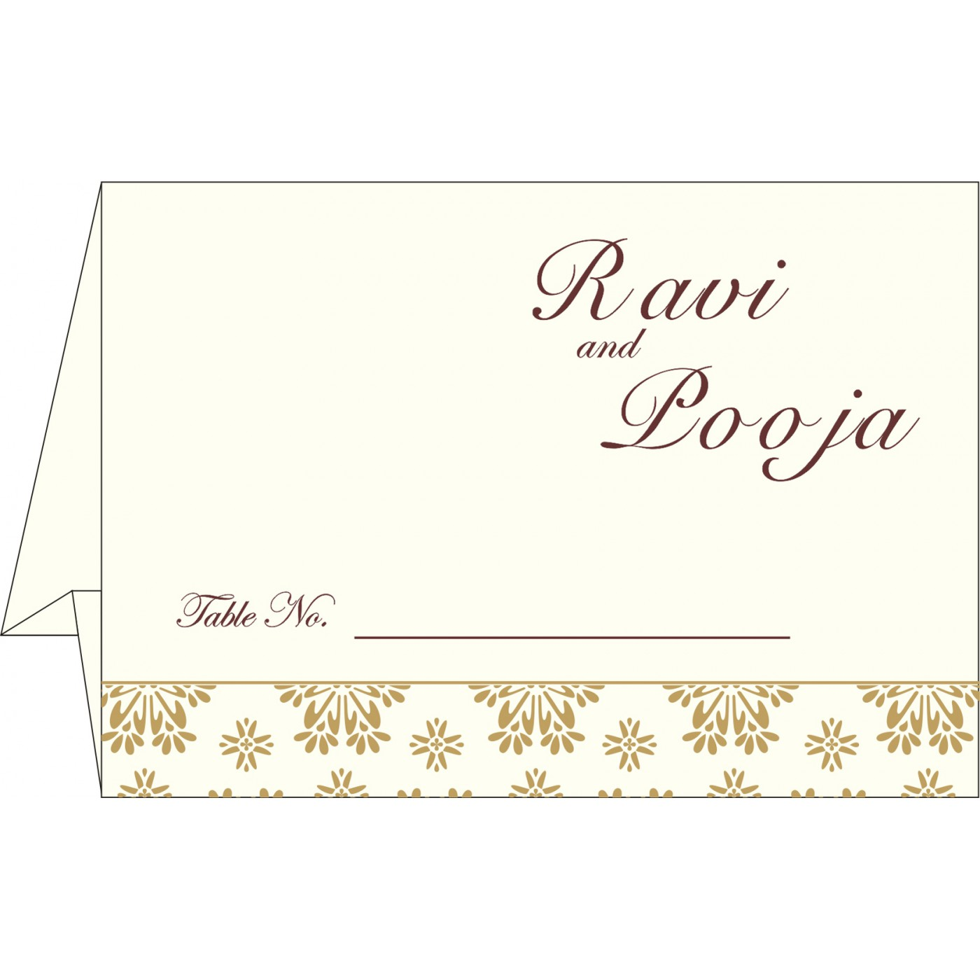 Place Cards : TC-8237L - 123WeddingCards
