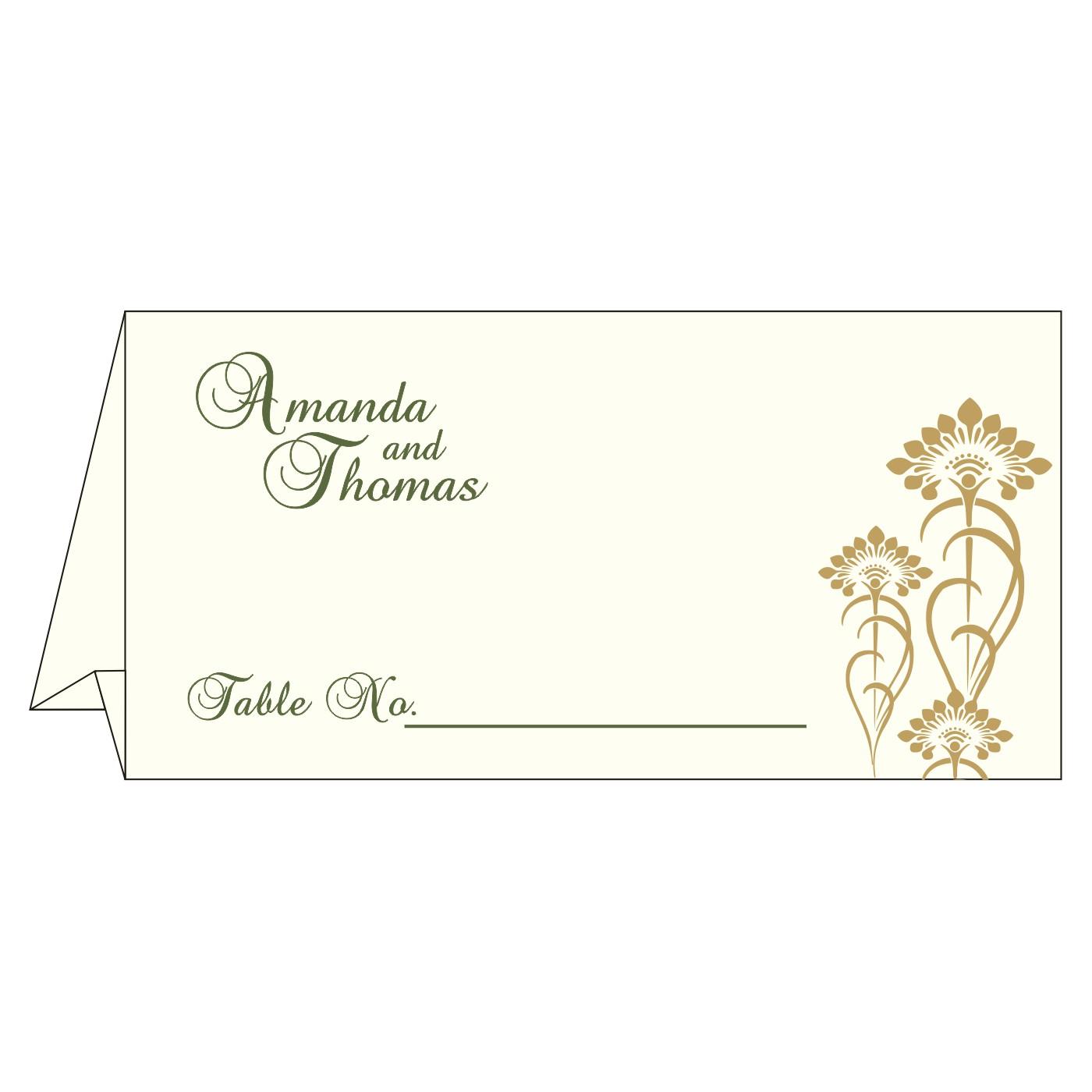 Place Cards : TC-8239F - 123WeddingCards