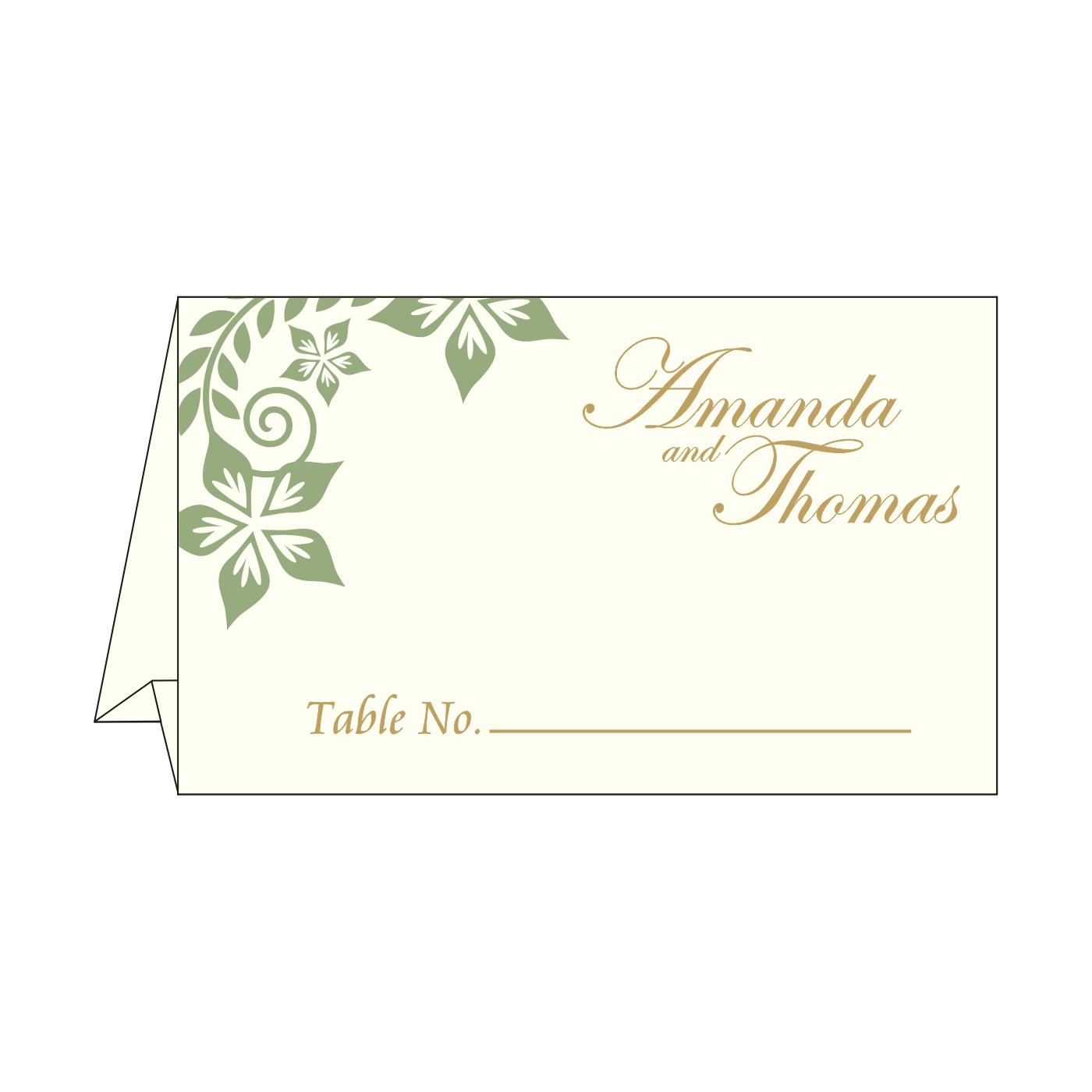 Place Cards : TC-8240F - 123WeddingCards