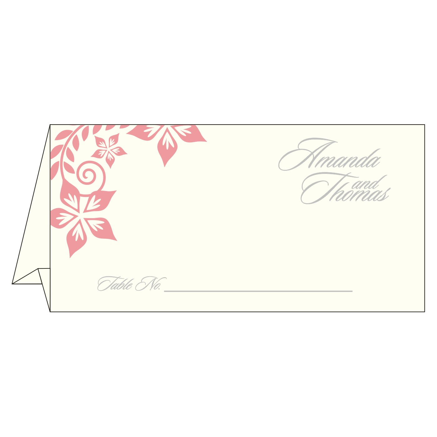 Place Cards : TC-8240G - 123WeddingCards