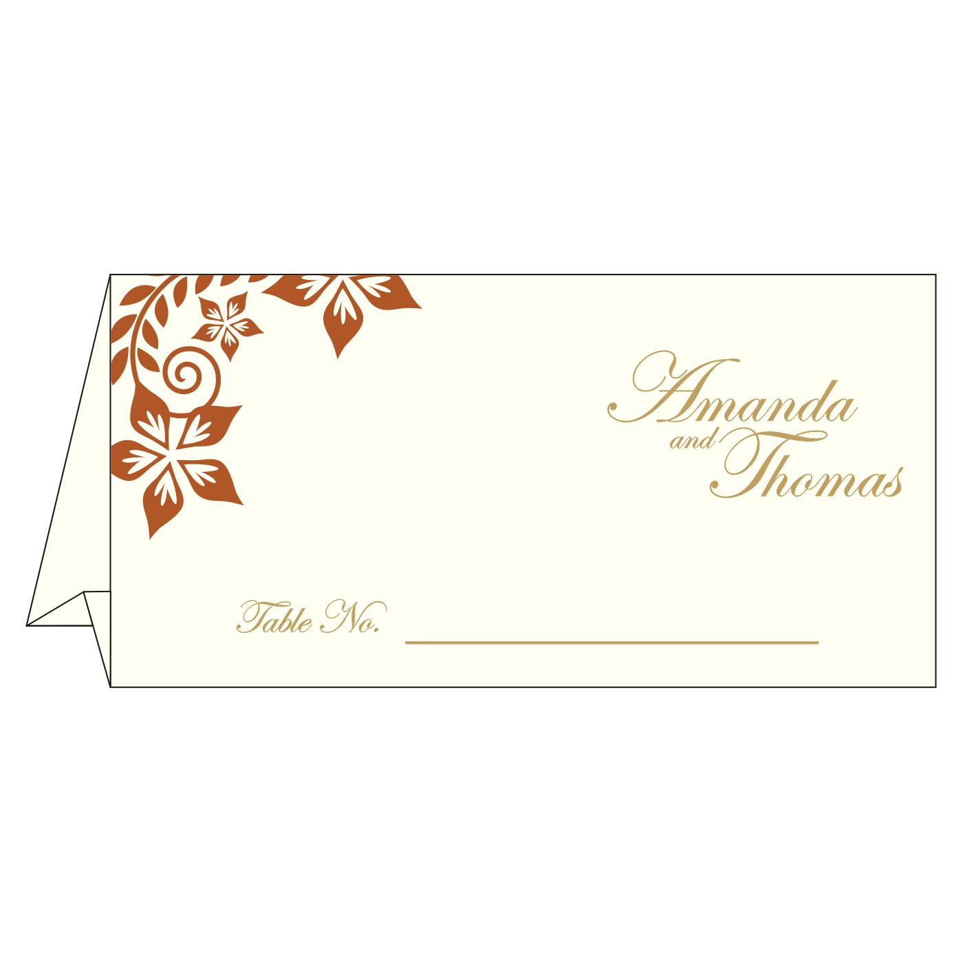 Place Cards : TC-8240L - 123WeddingCards