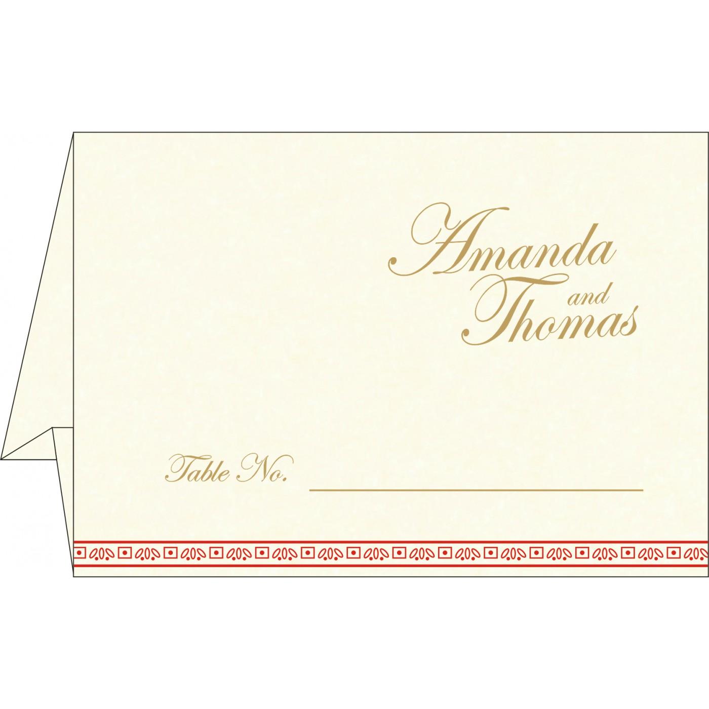 Place Cards : TC-8242A - 123WeddingCards