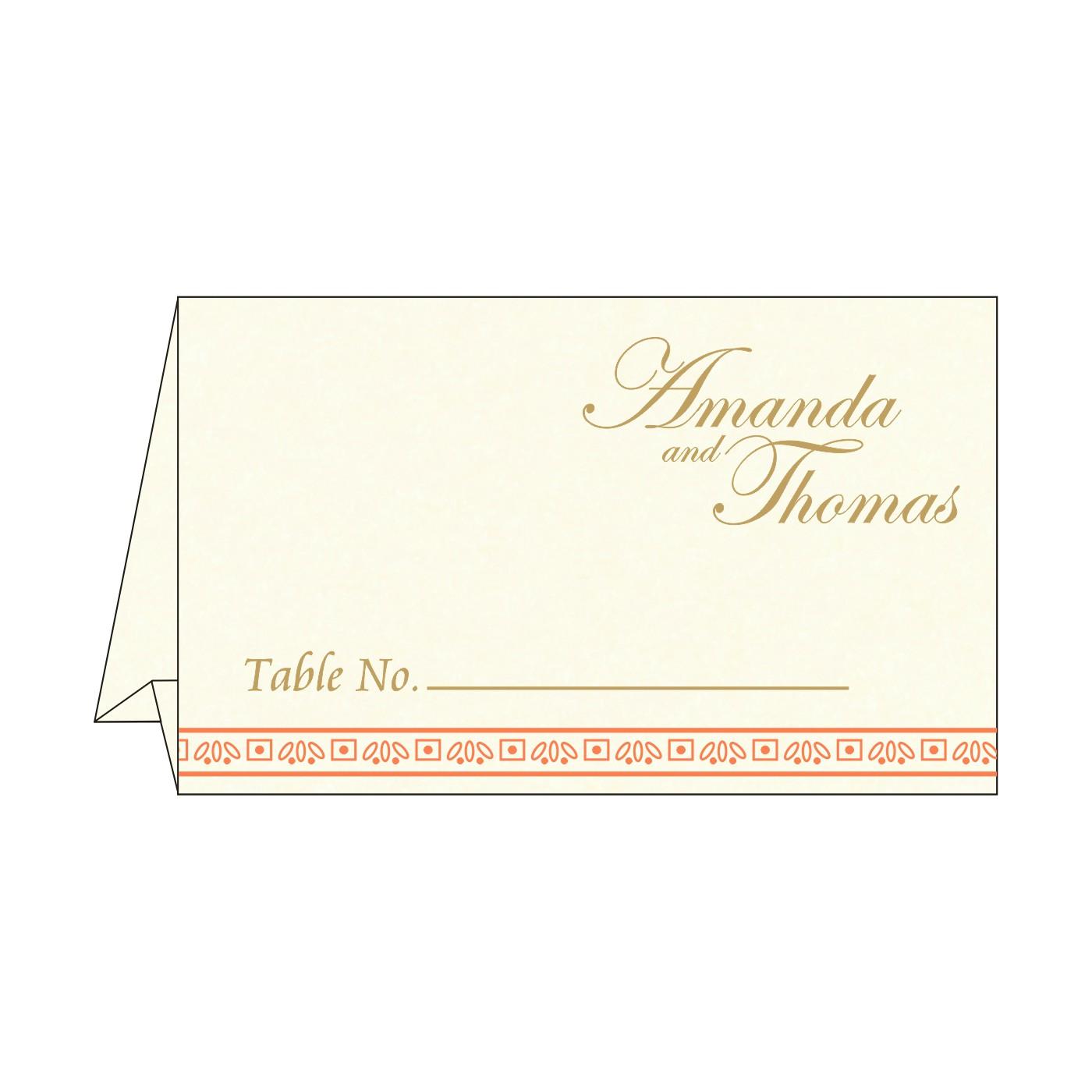 Place Cards : TC-8242I - 123WeddingCards