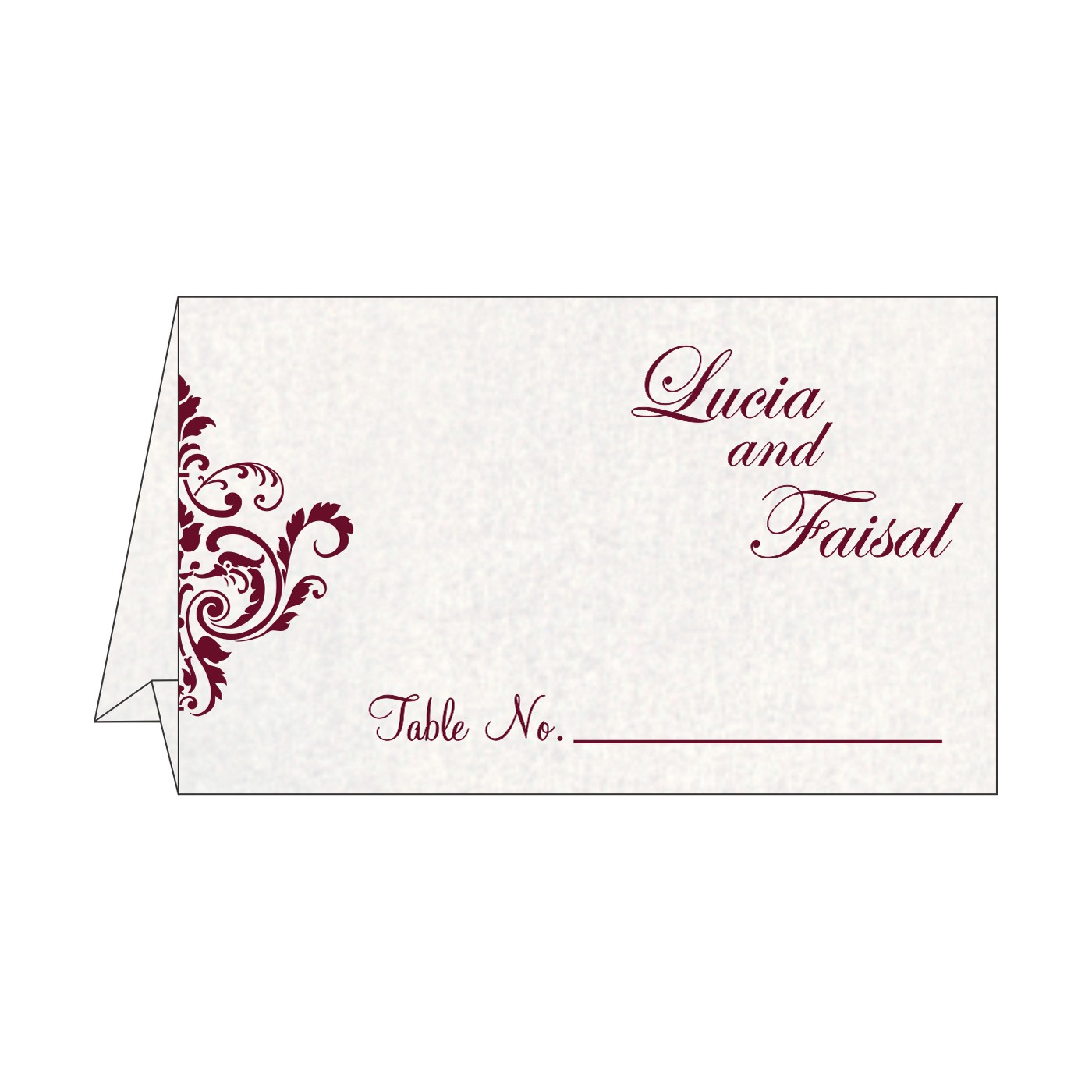 Place Cards : TC-8244G - 123WeddingCards
