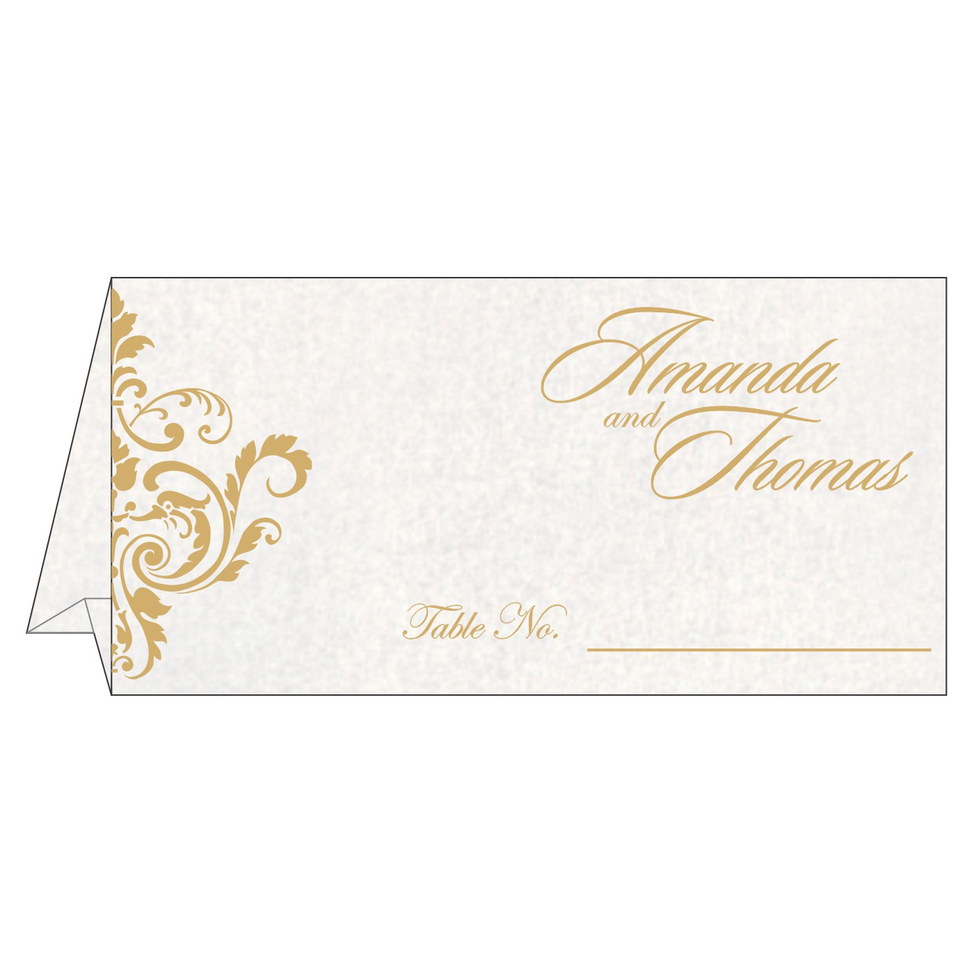 Place Cards : TC-8244H - 123WeddingCards