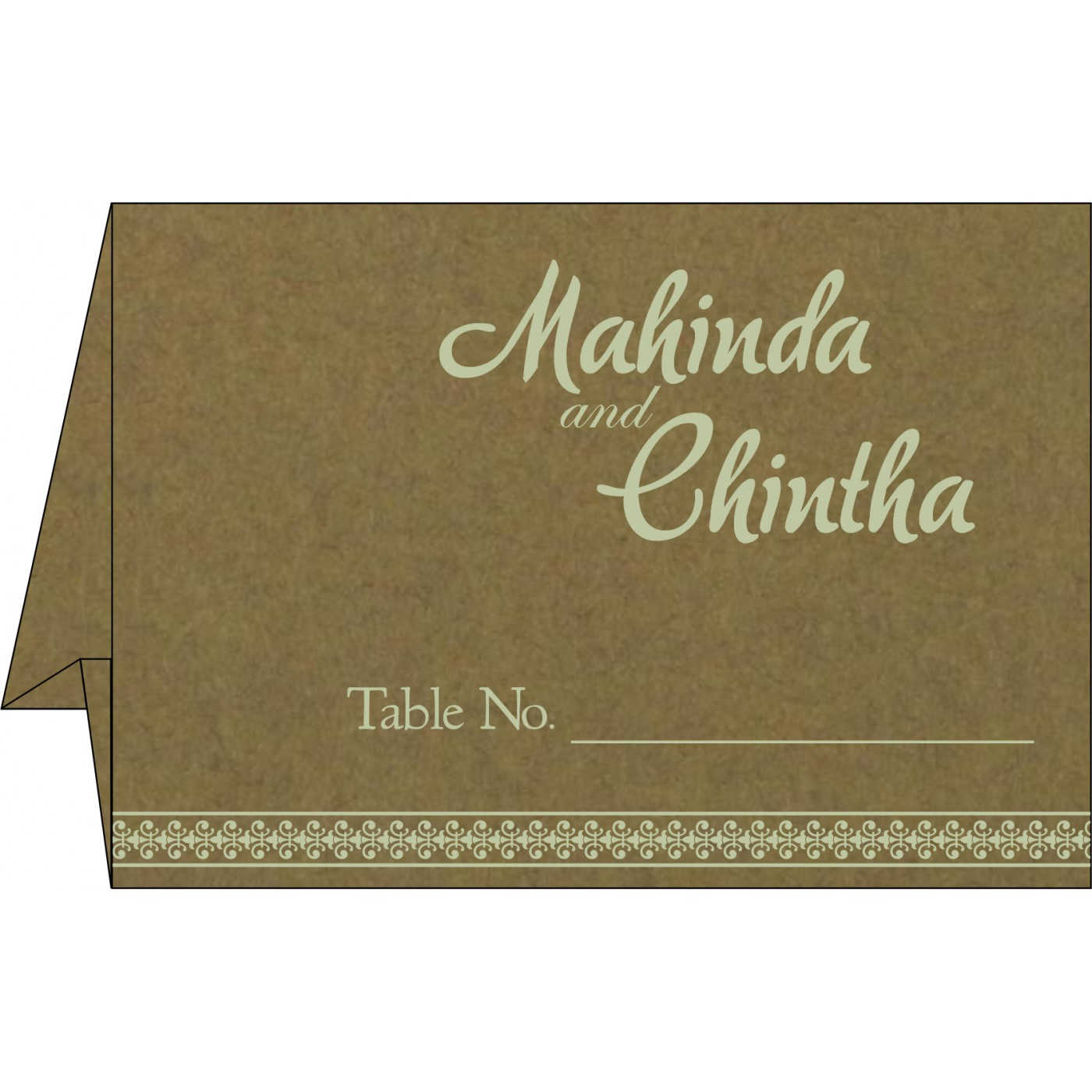Place Cards : TC-8247E - 123WeddingCards