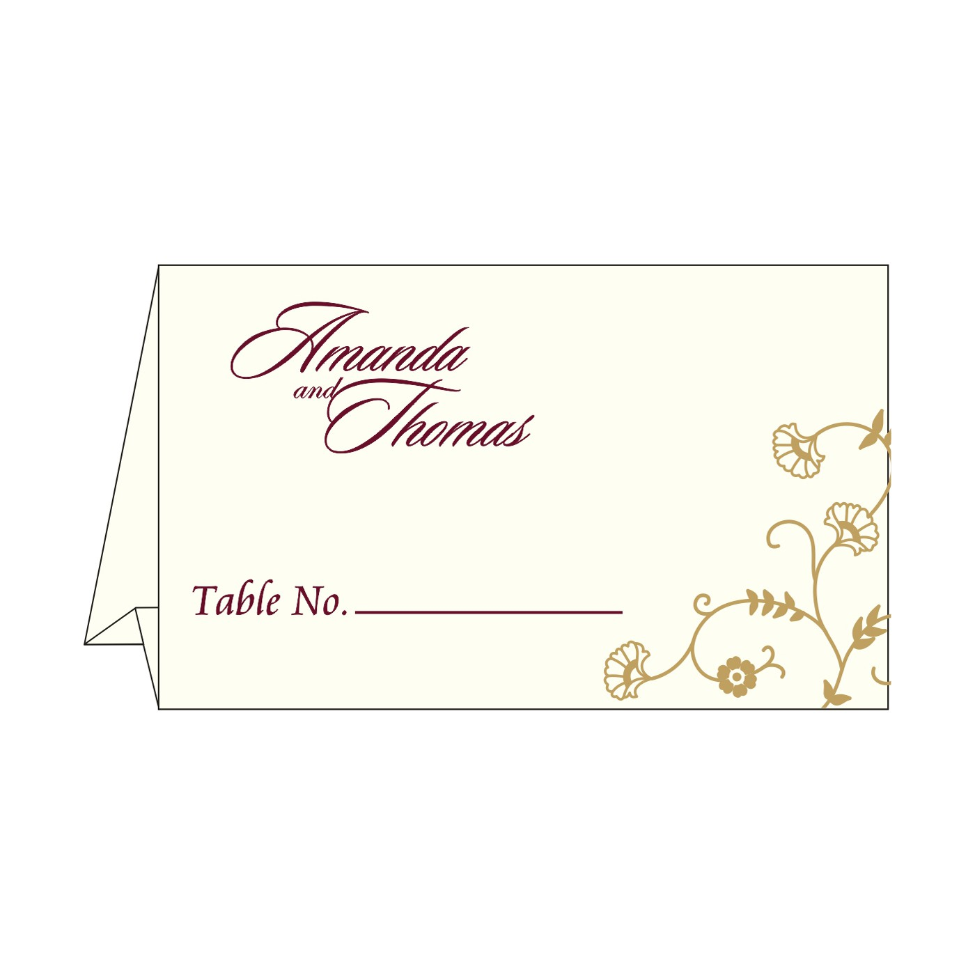 Place Cards : TC-8248B - 123WeddingCards