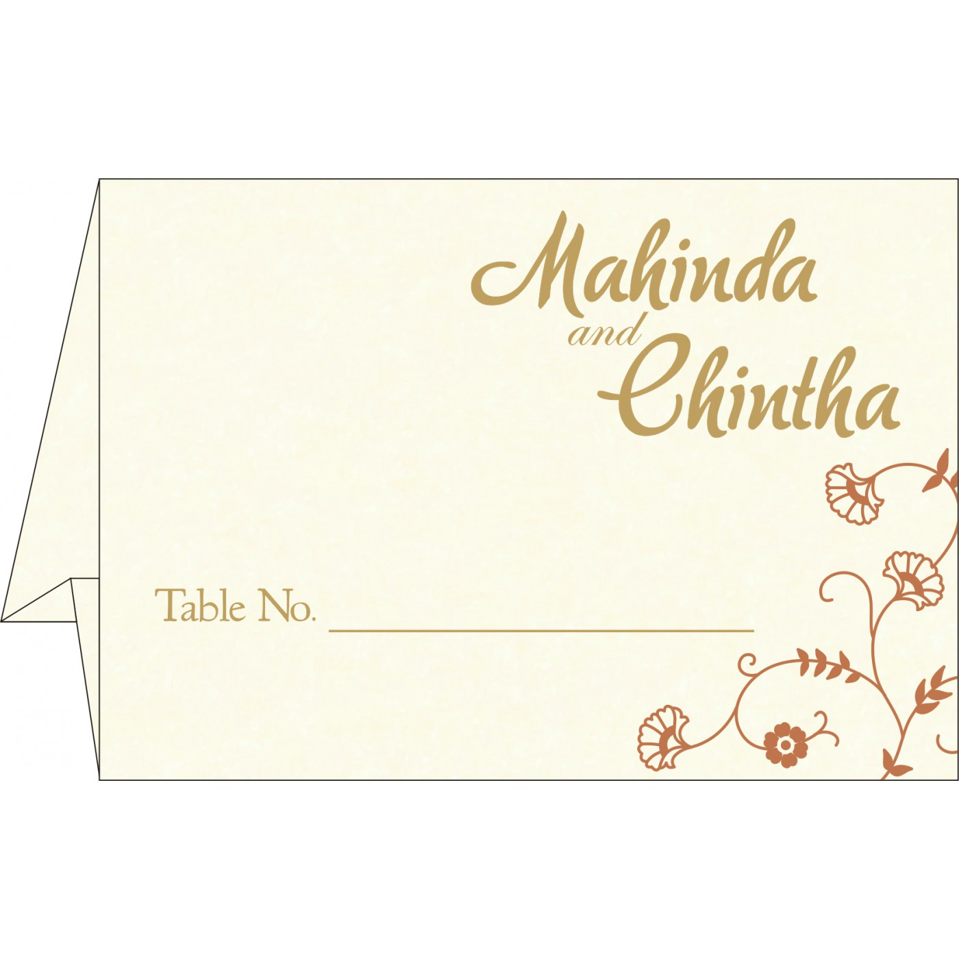 Place Cards : TC-8248E - 123WeddingCards