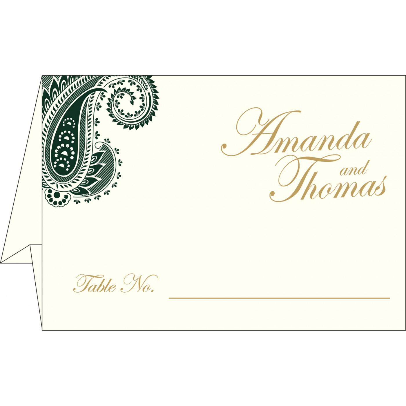 Place Cards : TC-8250C - 123WeddingCards