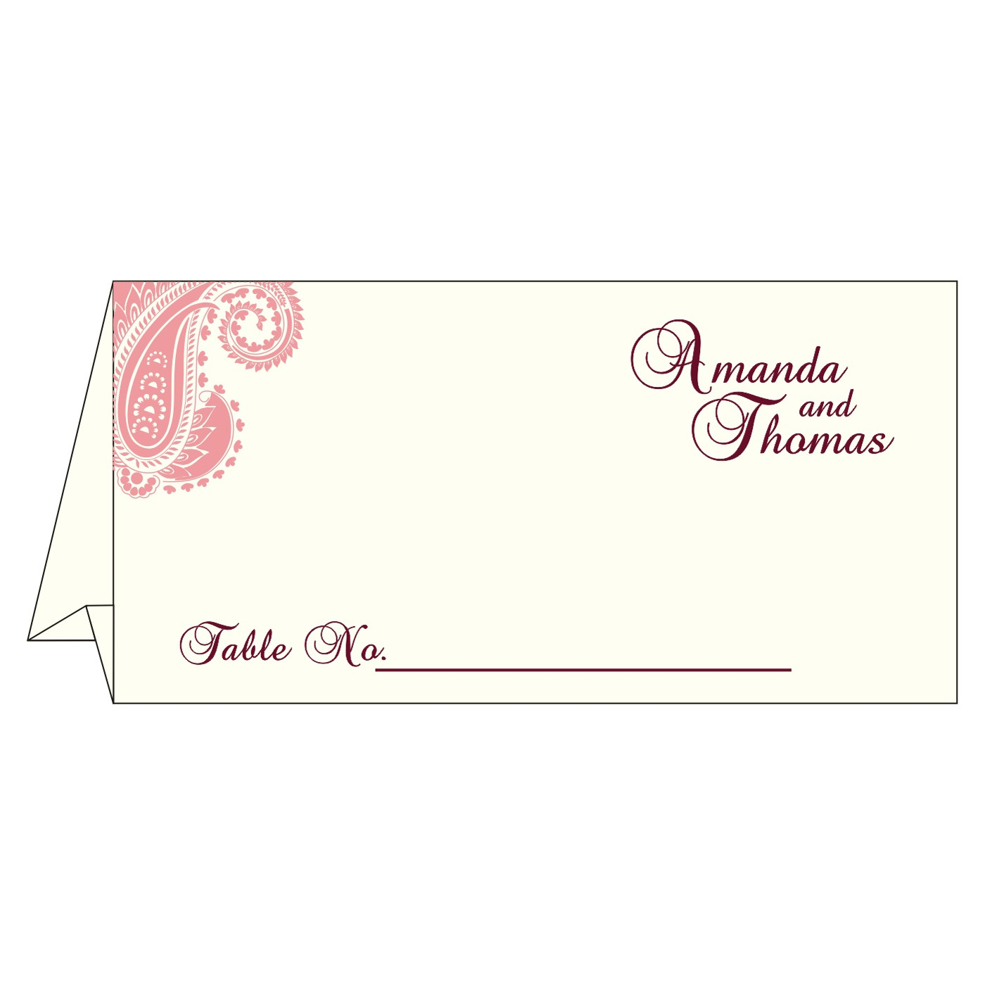 Place Cards : TC-8250F - 123WeddingCards