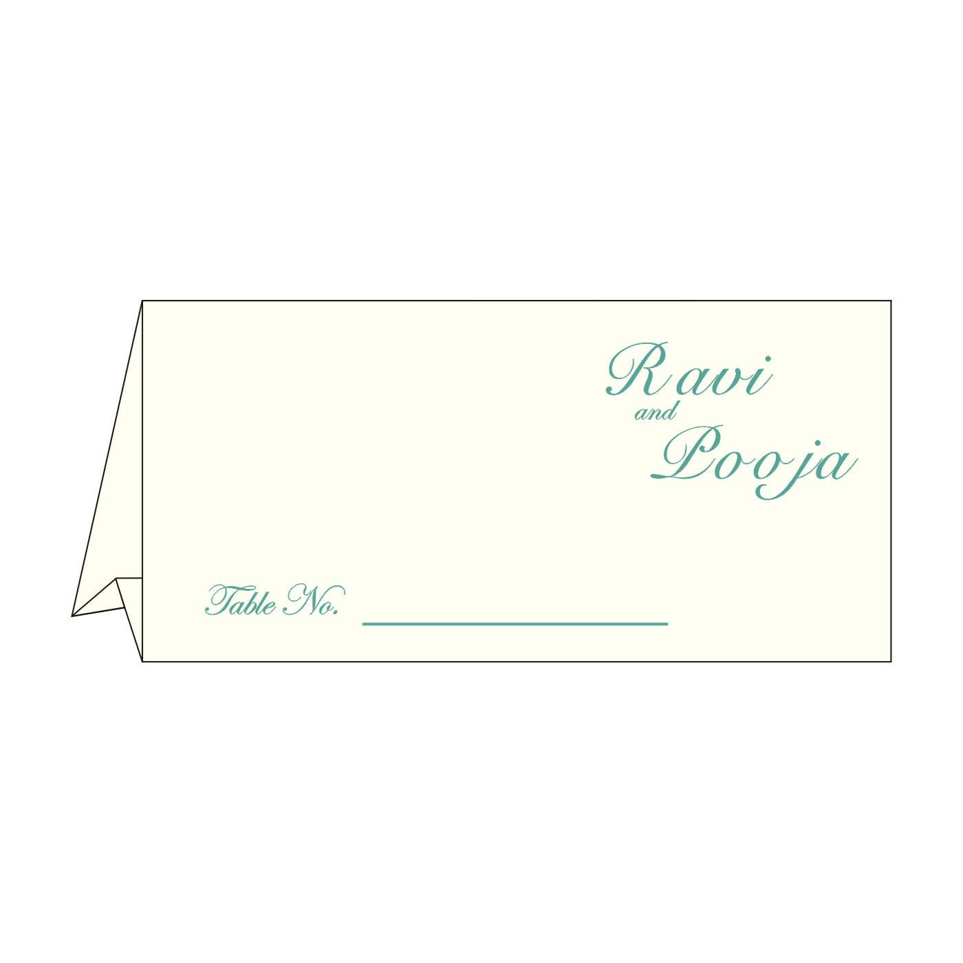 Place Cards : TC-8250G - 123WeddingCards