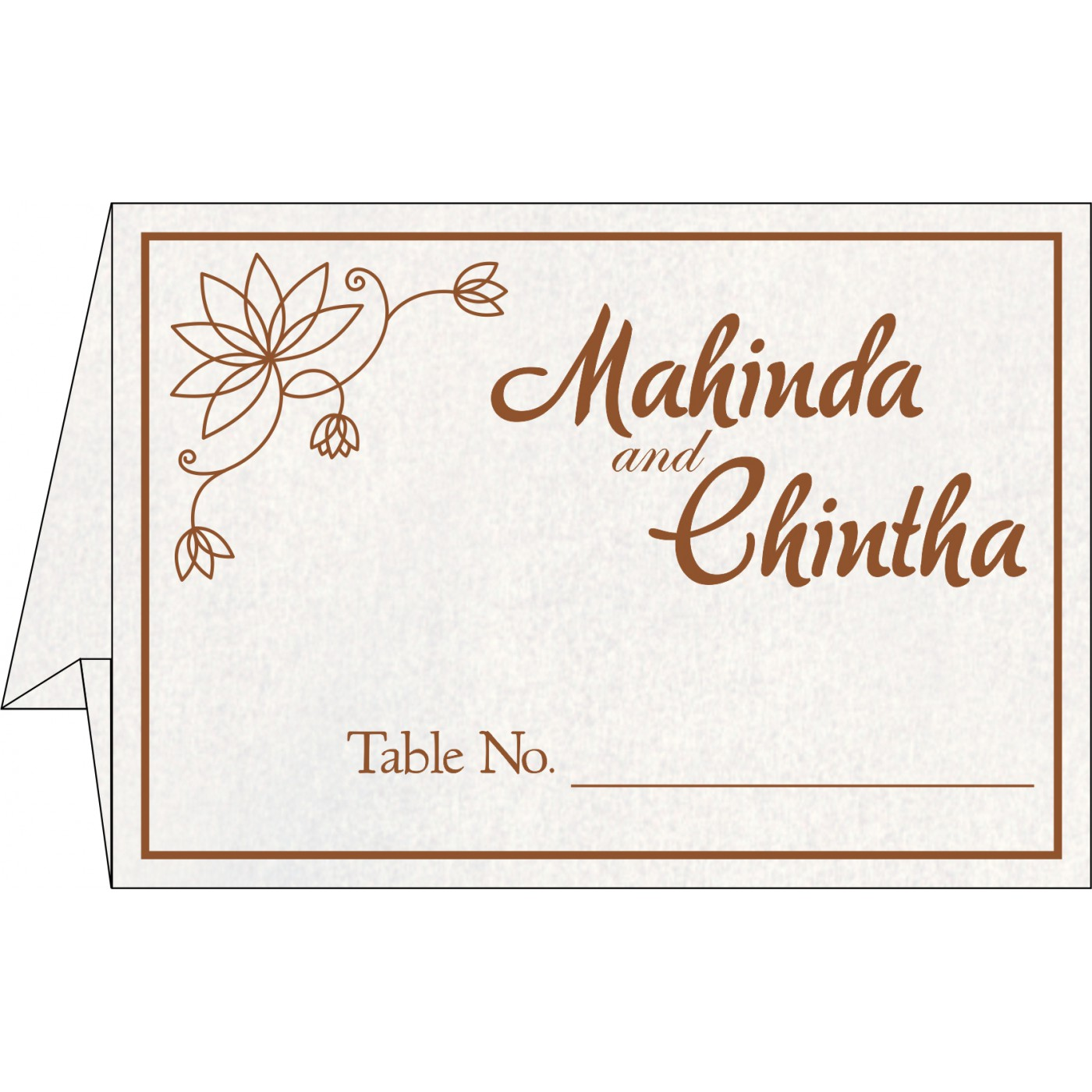 Place Cards : TC-8251M - 123WeddingCards
