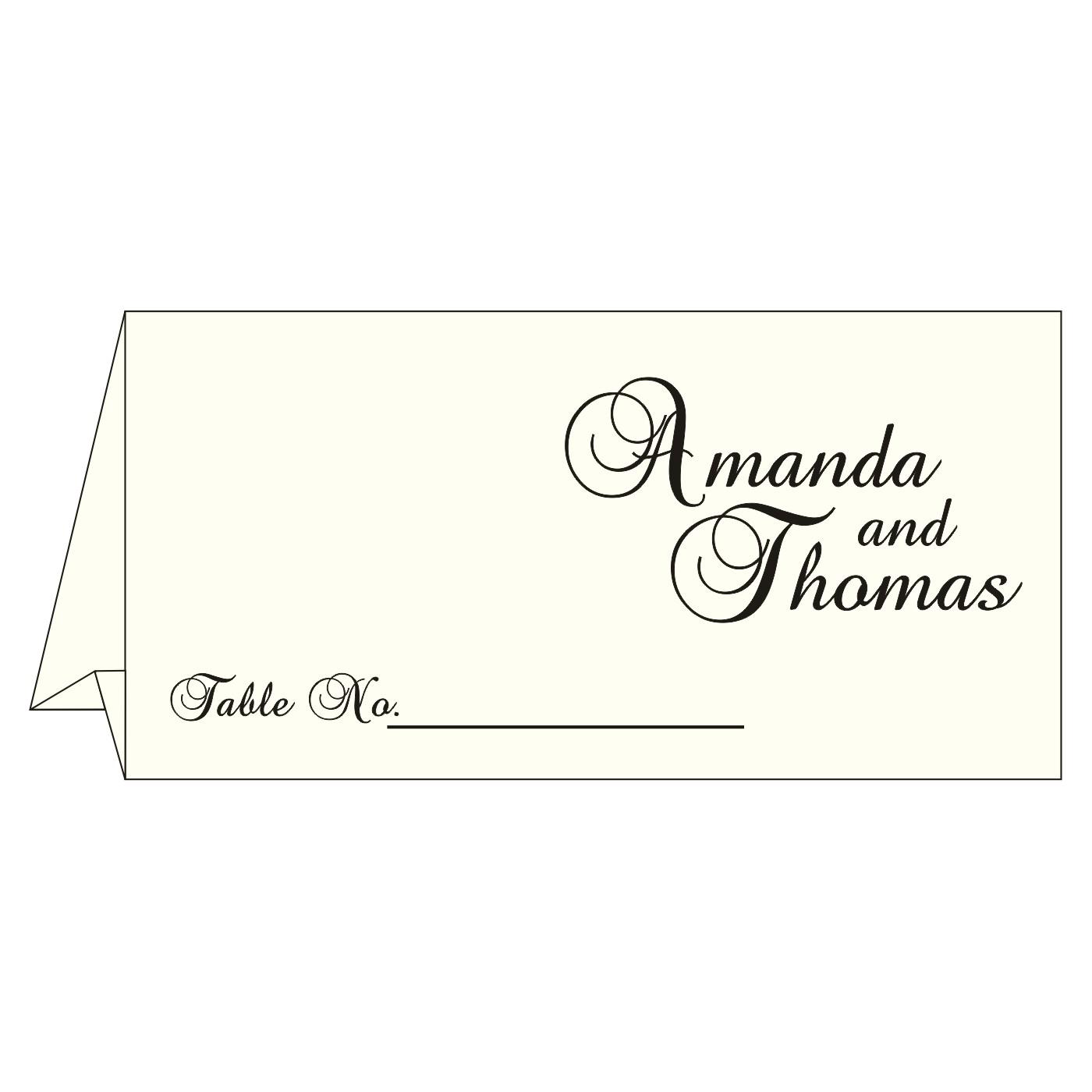 Place Cards : TC-8252C - 123WeddingCards