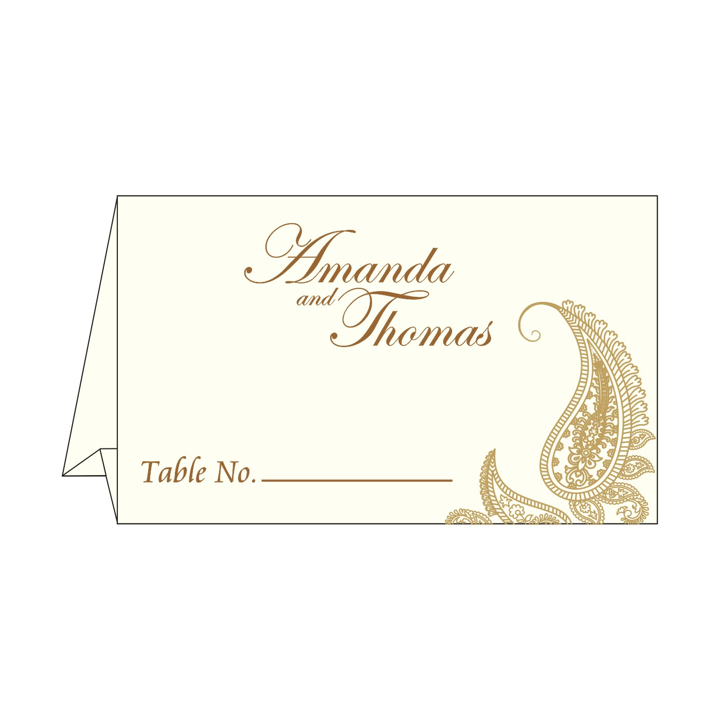 Place Cards : TC-8252F - 123WeddingCards