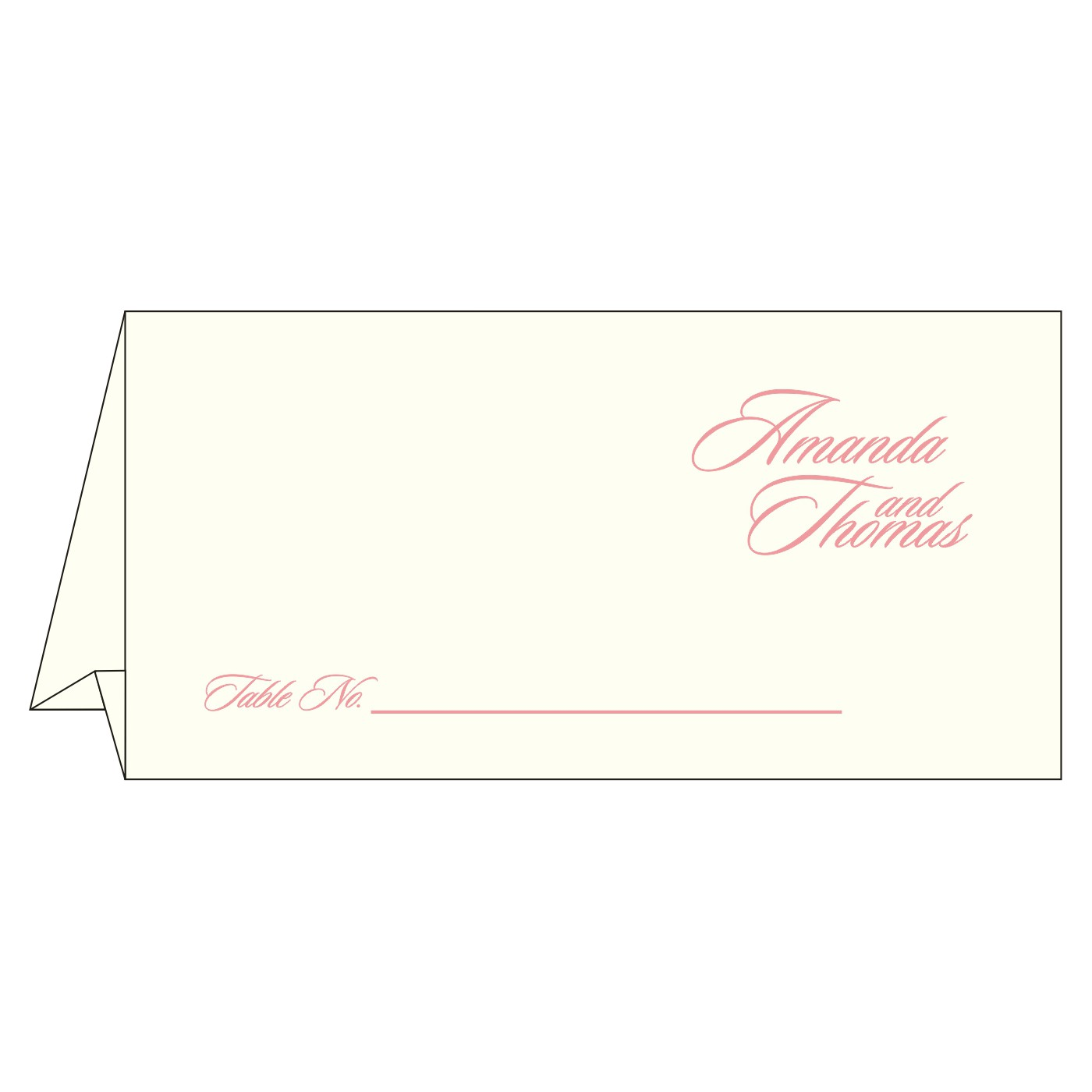 Place Cards : TC-8252G - 123WeddingCards