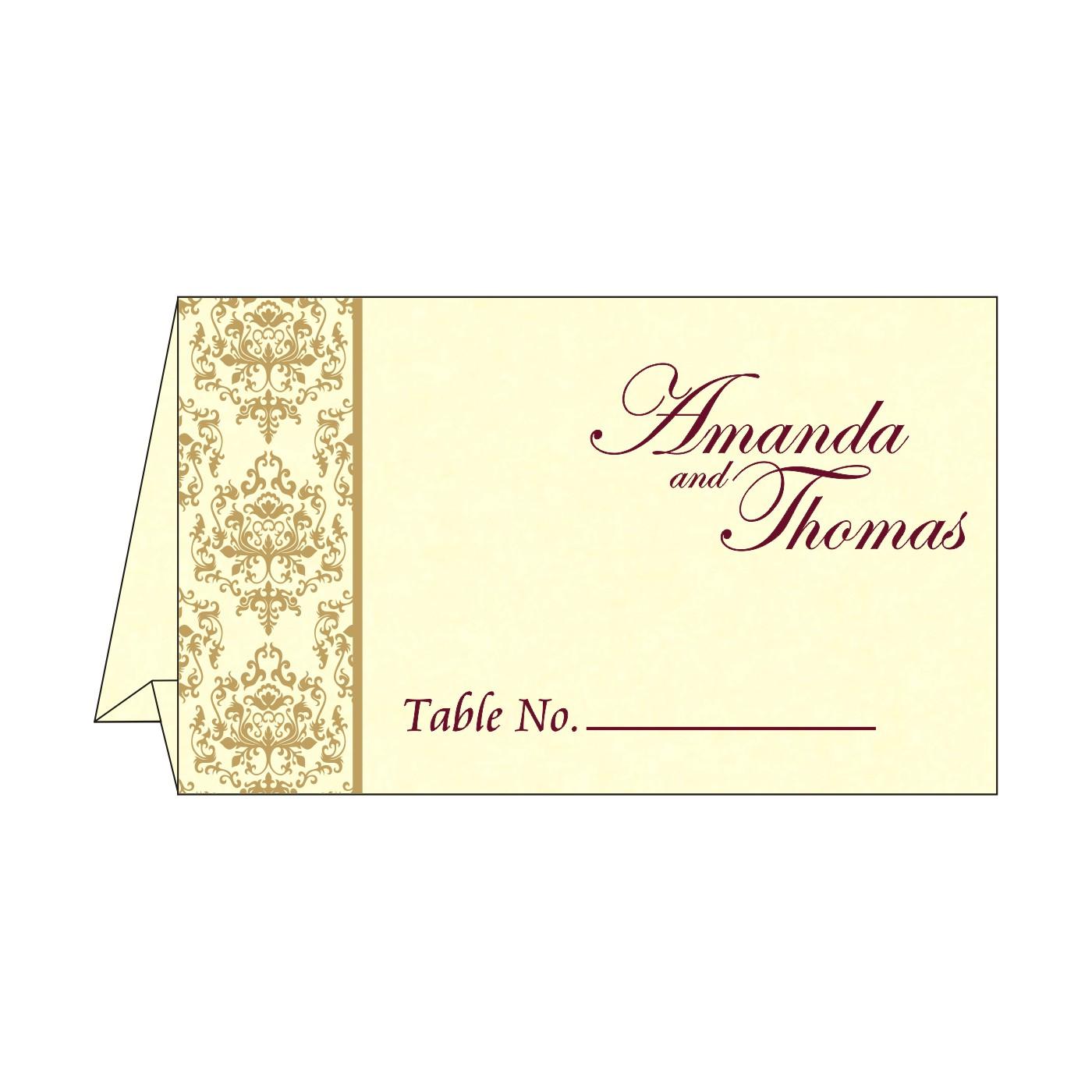 Place Cards : TC-8253F - 123WeddingCards