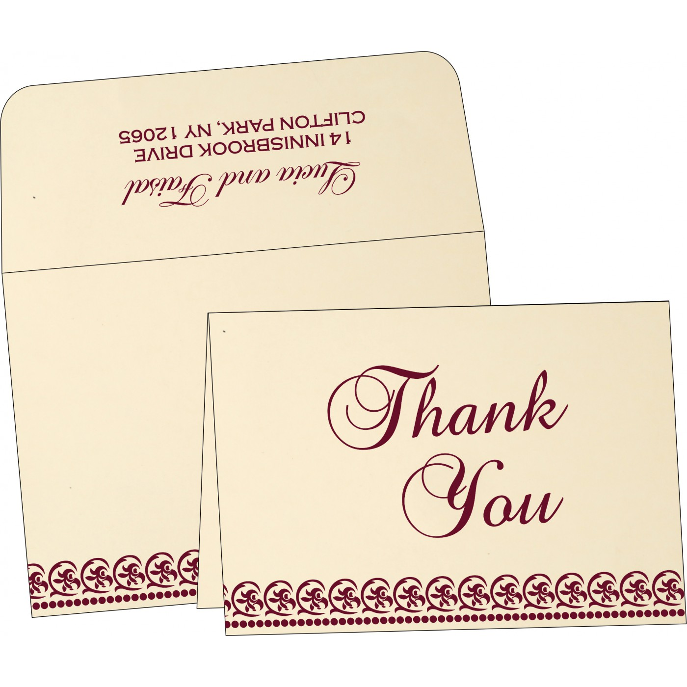 Thank You Cards : TYC-1101 - 123WeddingCards