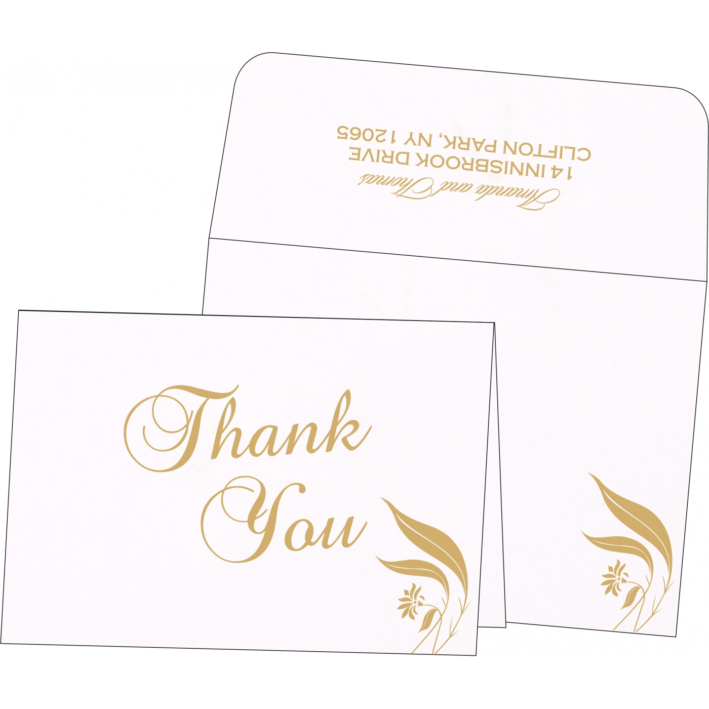 Thank You Cards : TYC-1114 - 123WeddingCards