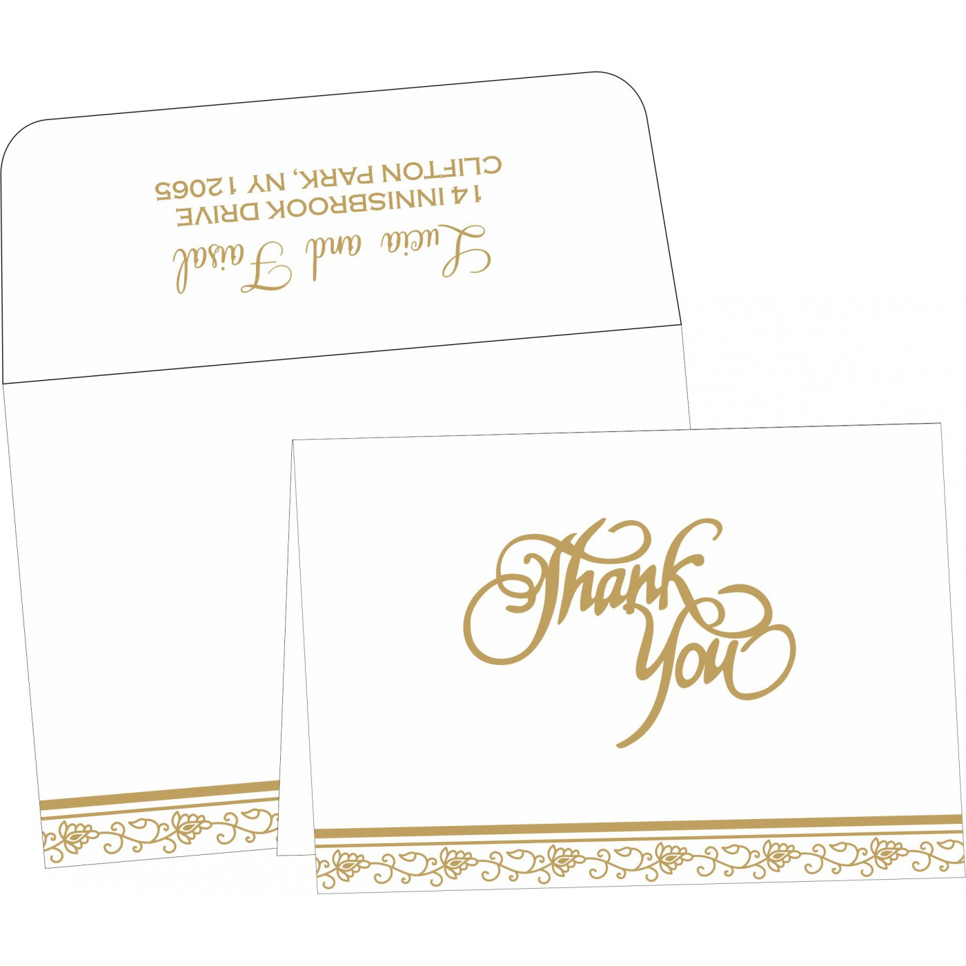 Thank You Cards : TYC-1171 - 123WeddingCards