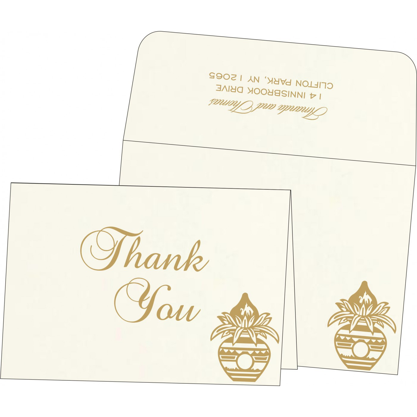 Thank You Cards : TYC-1188 - 123WeddingCards