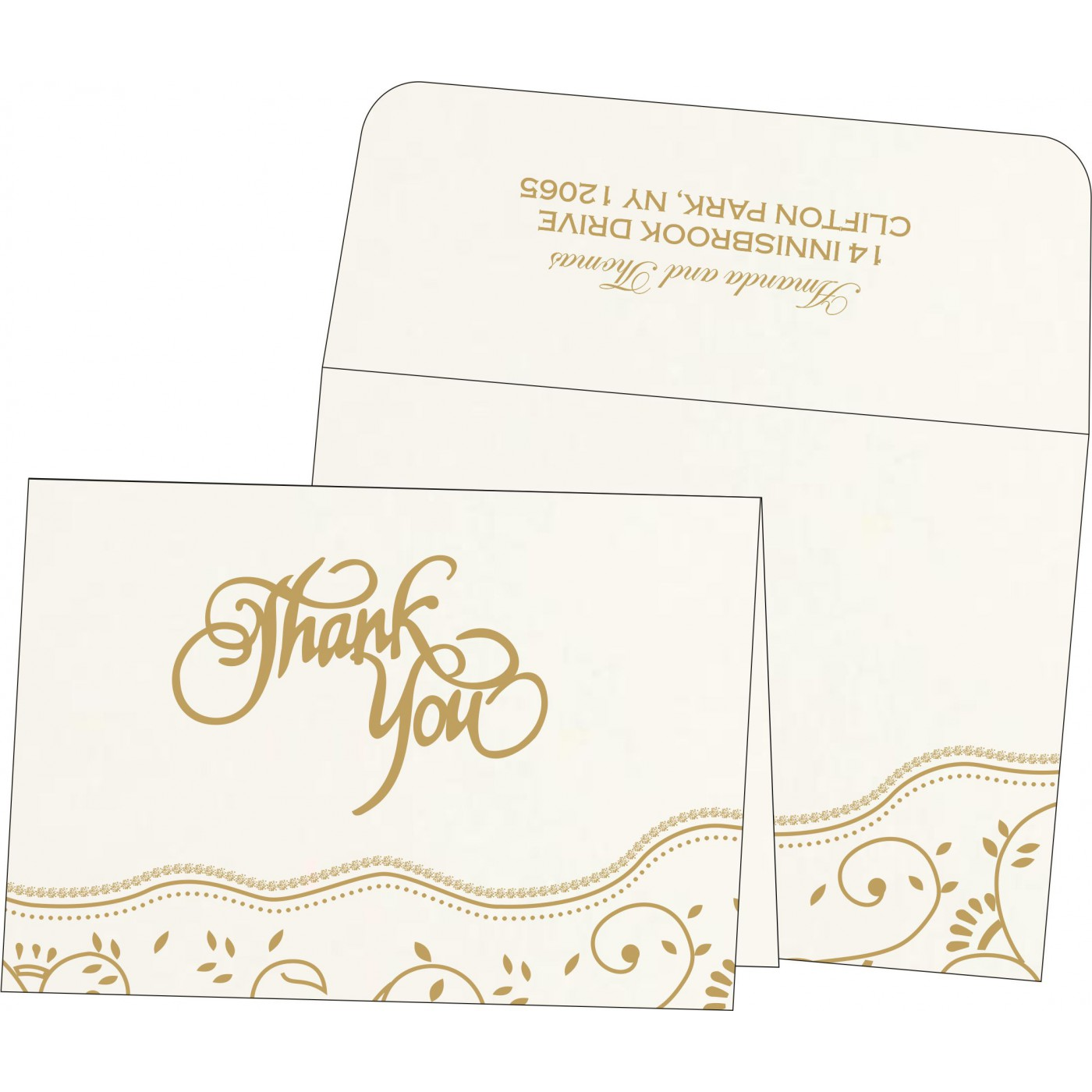 Thank You Cards : TYC-1197 - 123WeddingCards