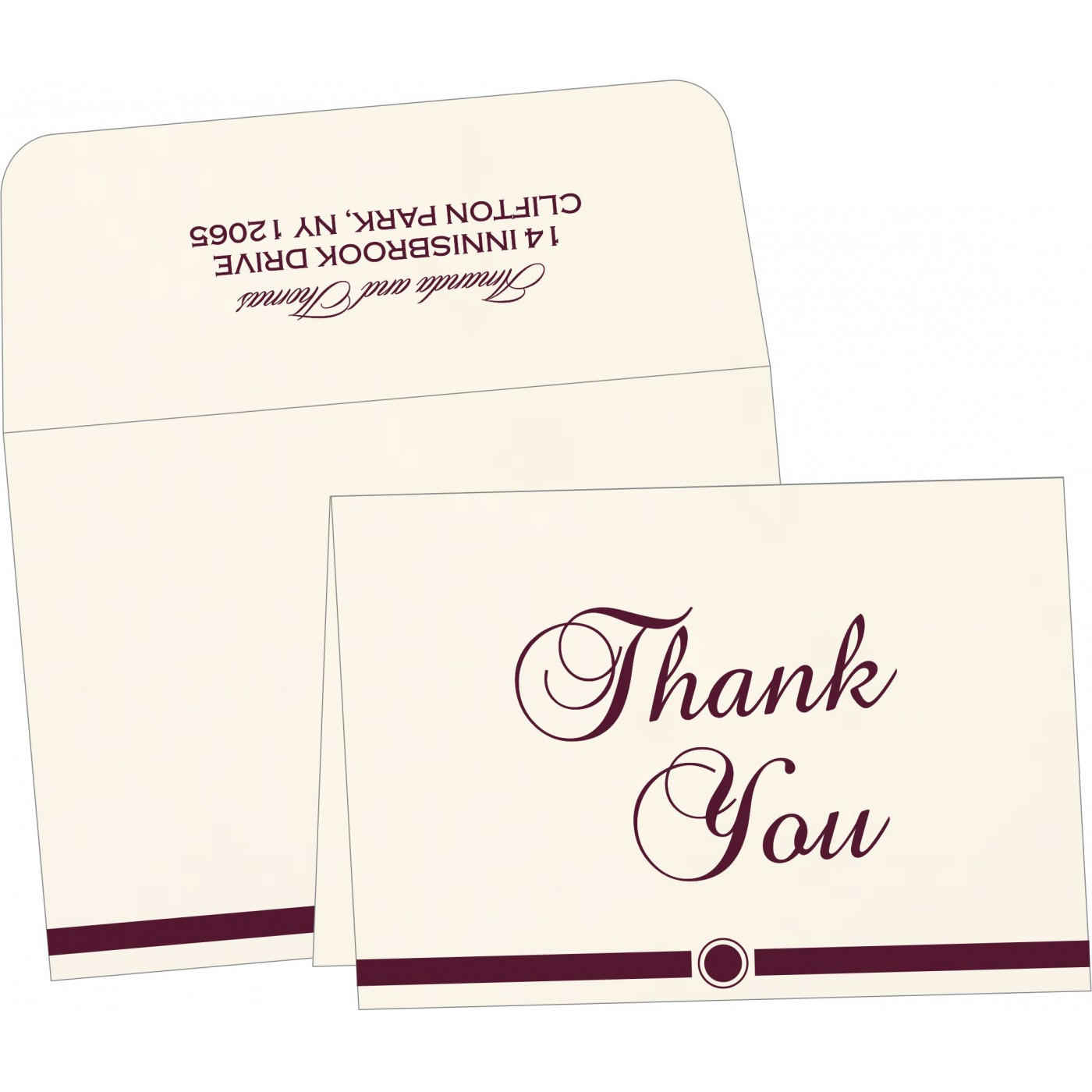 Thank You Cards : TYC-1204 - 123WeddingCards