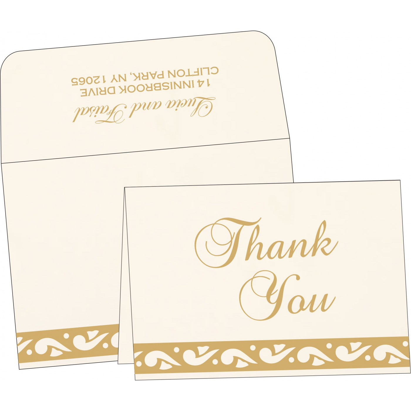 Thank You Cards : TYC-1225 - 123WeddingCards