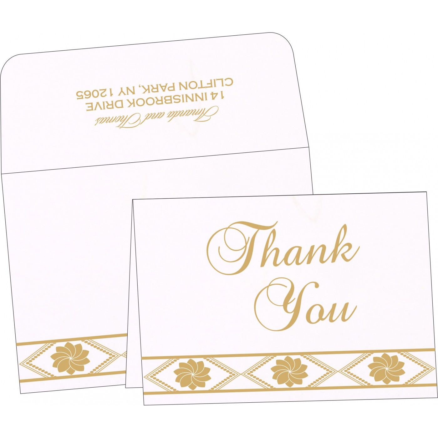 Thank You Cards : TYC-1228 - 123WeddingCards