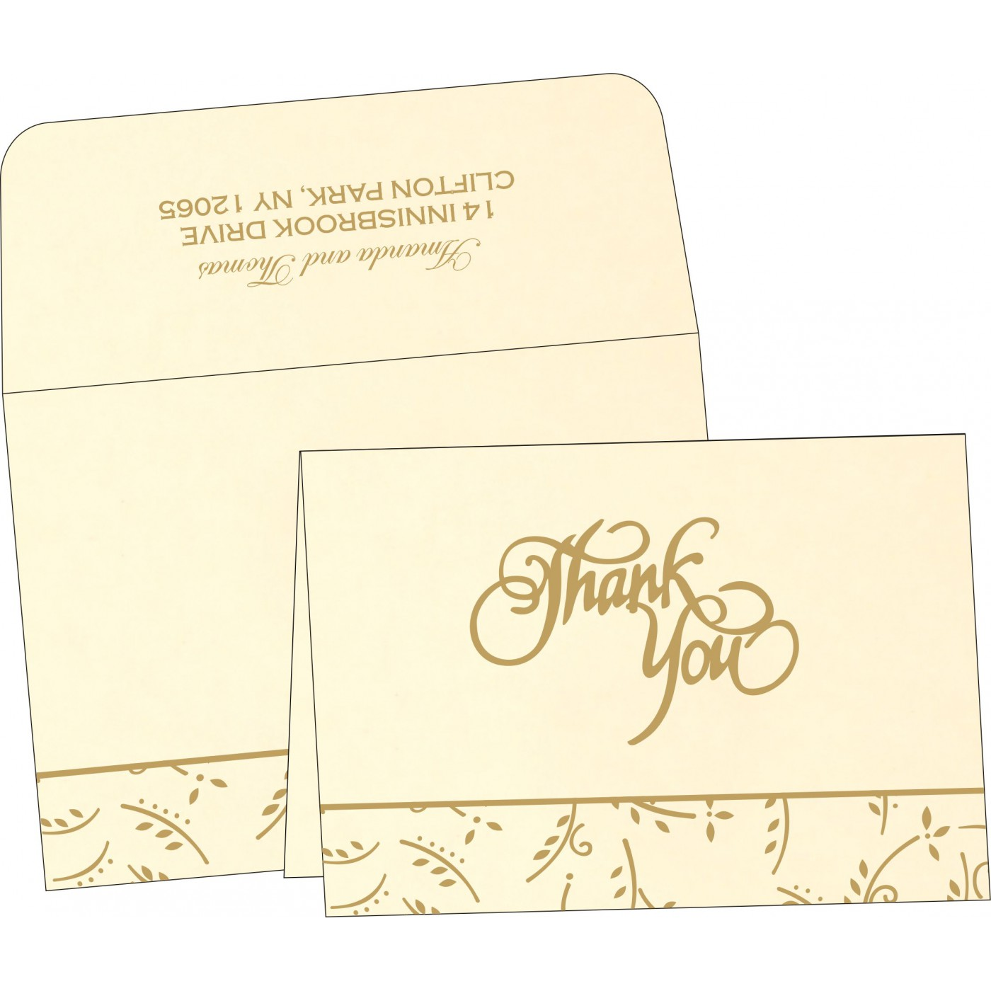 Thank You Cards : TYC-1303 - 123WeddingCards