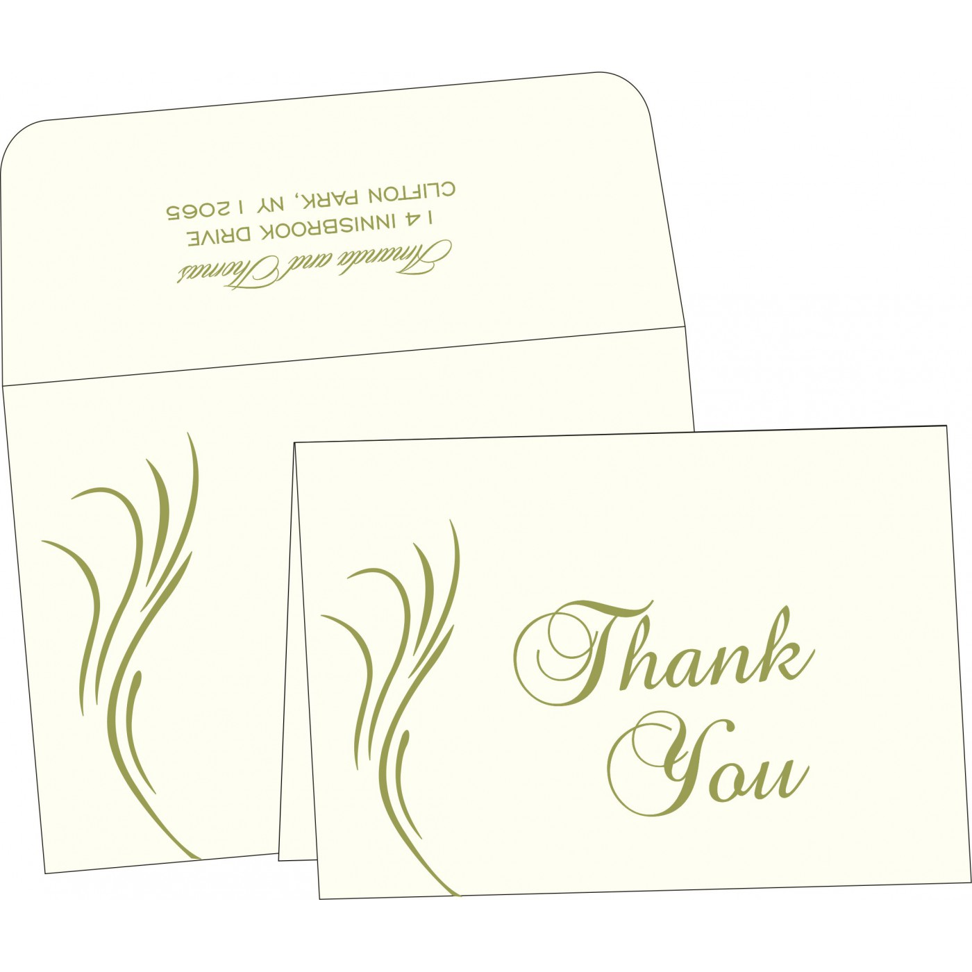 Thank You Cards : TYC-1317 - 123WeddingCards
