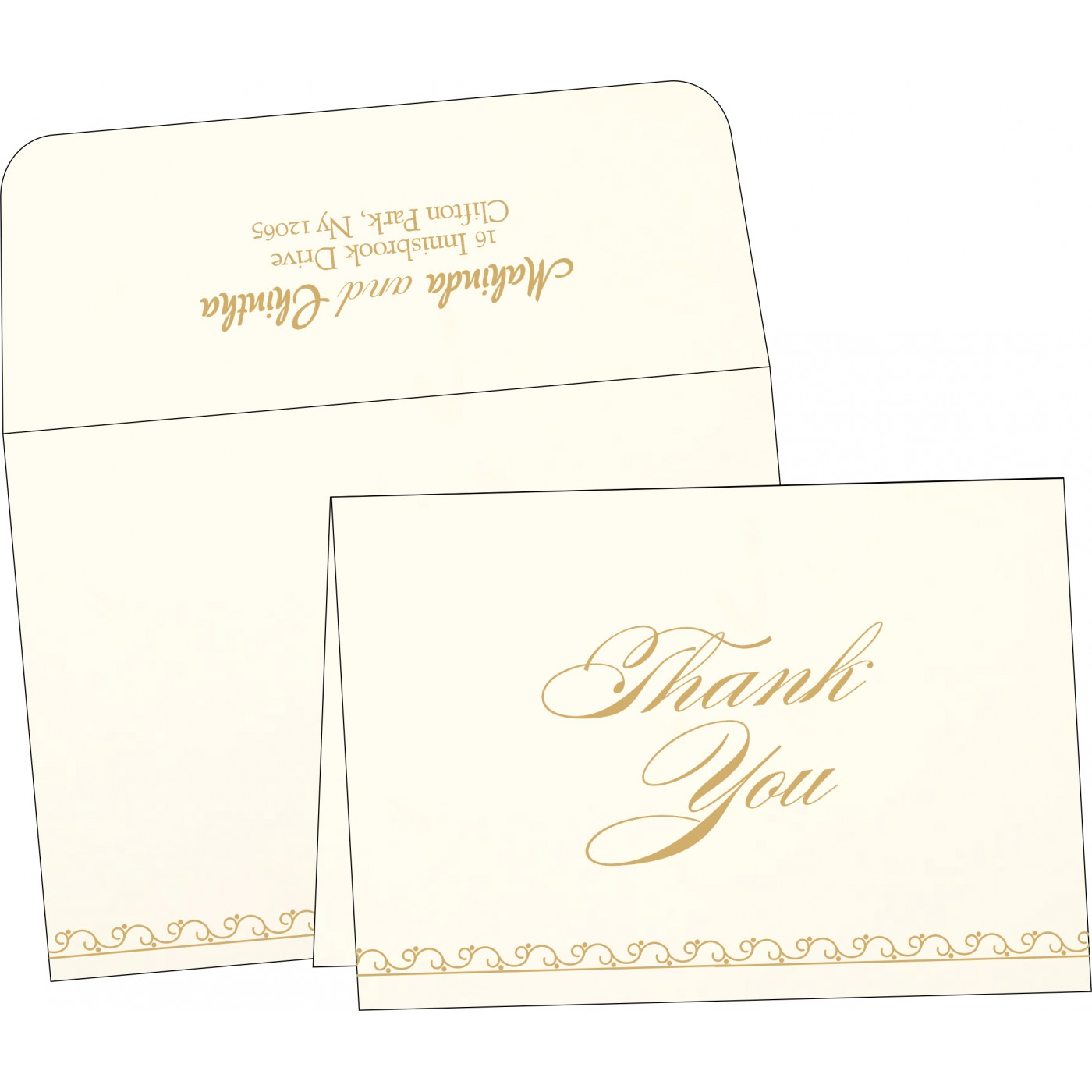 Thank You Cards : TYC-1351 - 123WeddingCards