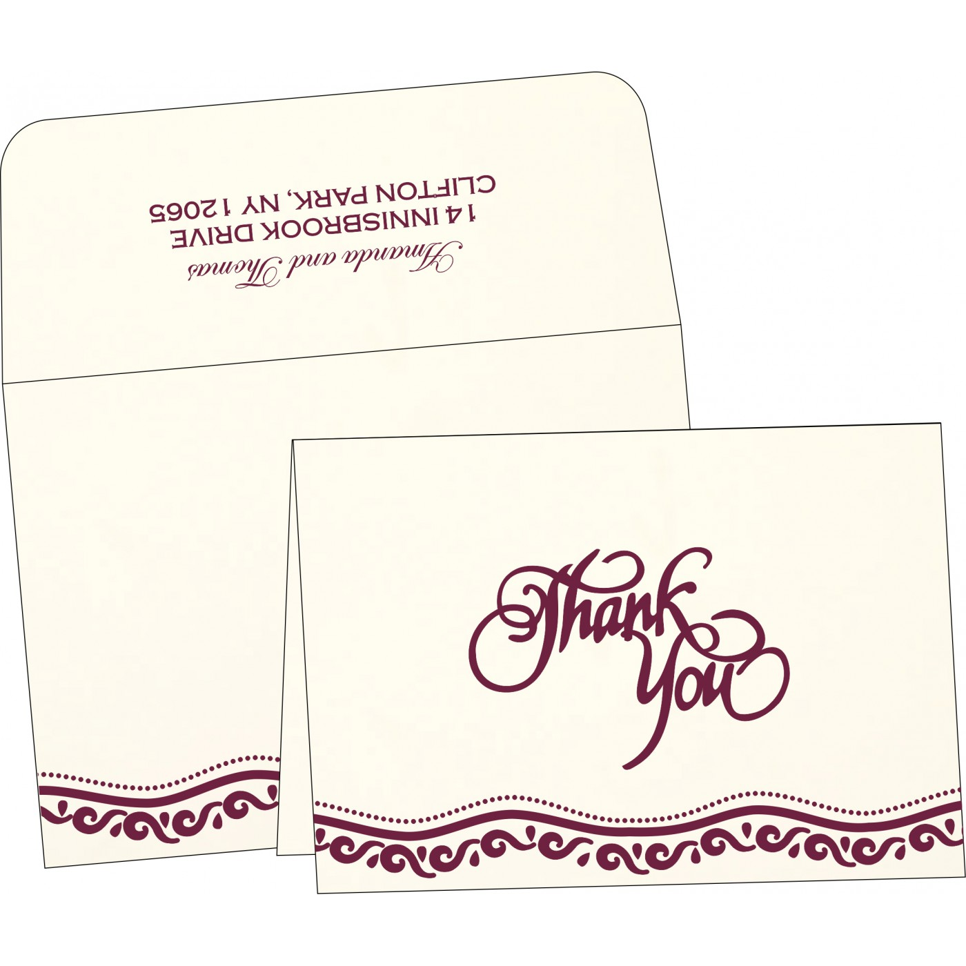 Thank You Cards : TYC-1375 - 123WeddingCards