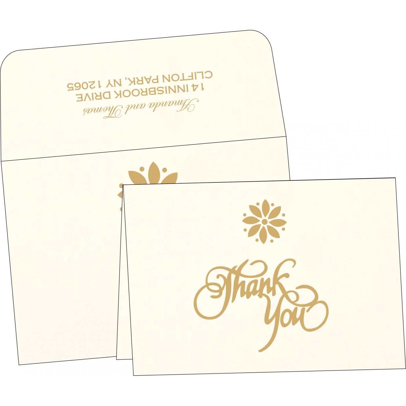 Thank You Cards : TYC-1385 - 123WeddingCards