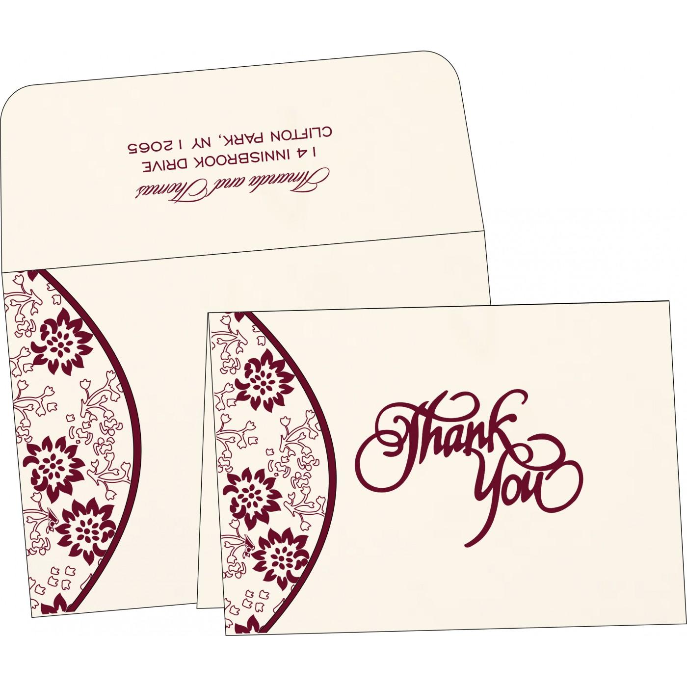 Thank You Cards : TYC-1391 - 123WeddingCards