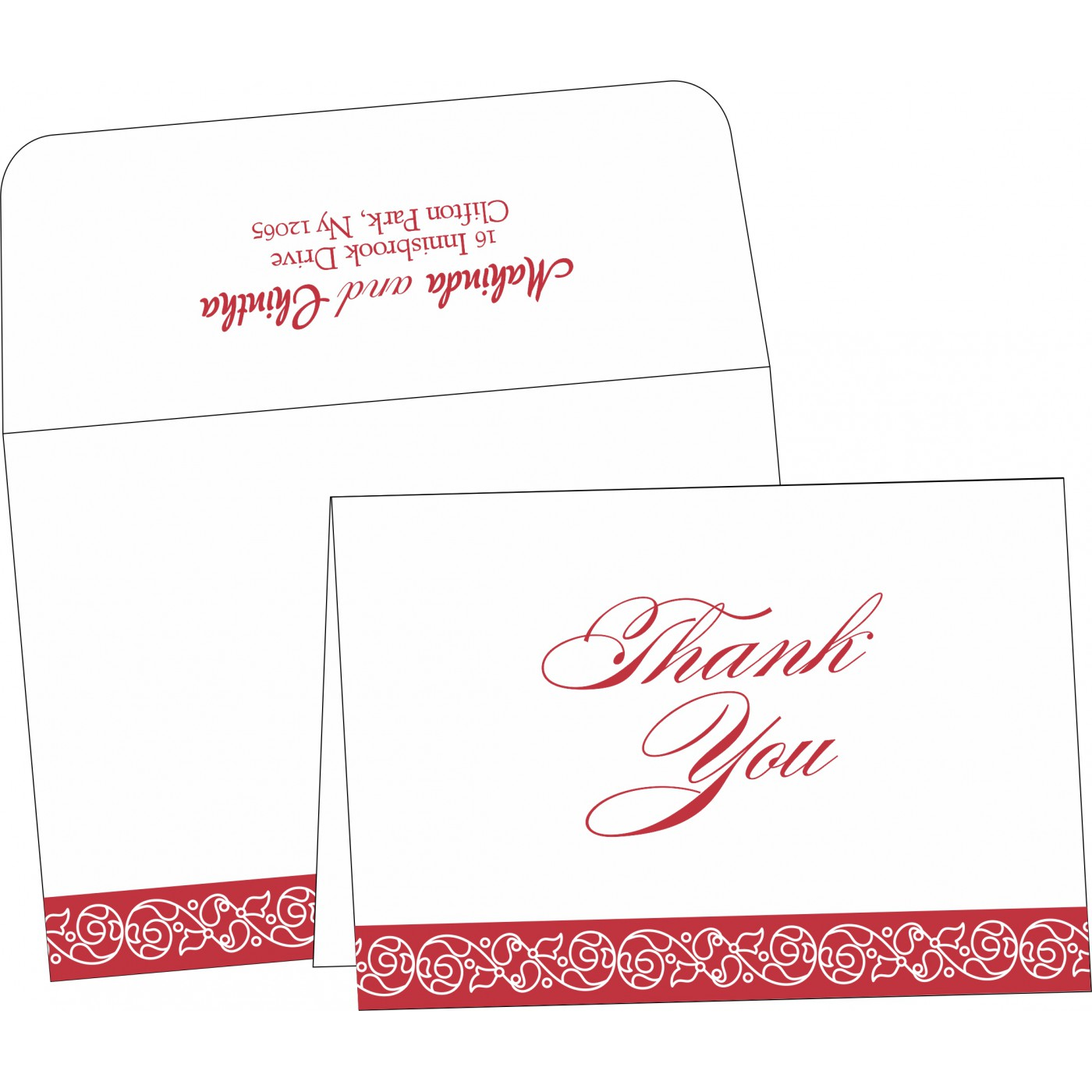 Thank You Cards : TYC-1396 - 123WeddingCards