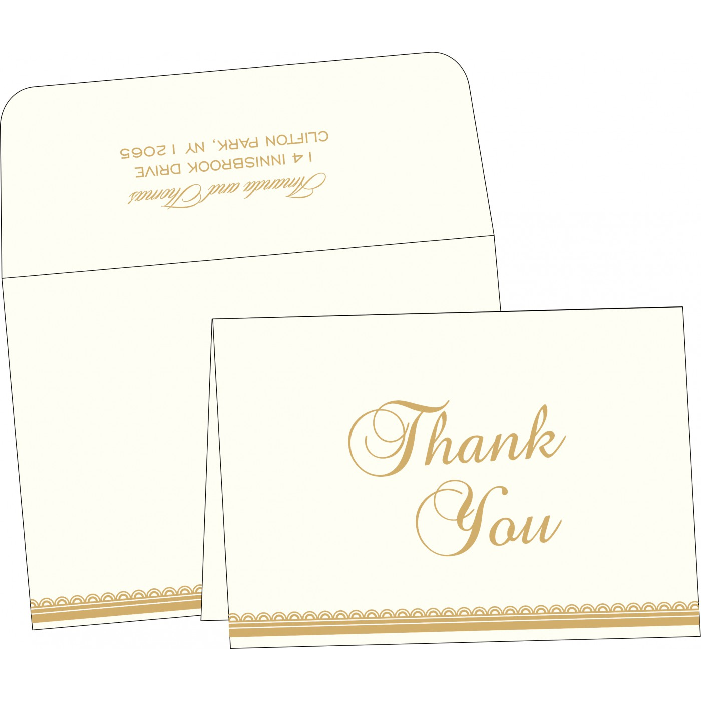 Thank You Cards : TYC-1402 - 123WeddingCards