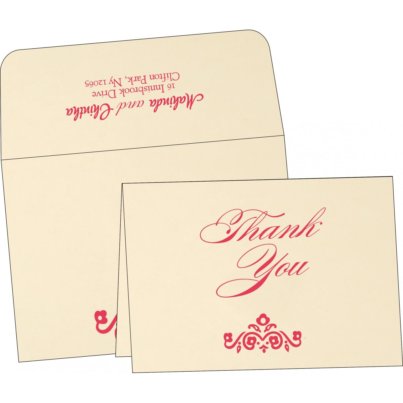 Thank You Cards : TYC-1407 - 123WeddingCards