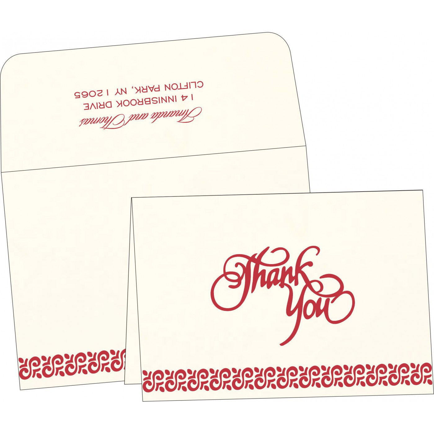 Thank You Cards : TYC-1411 - 123WeddingCards