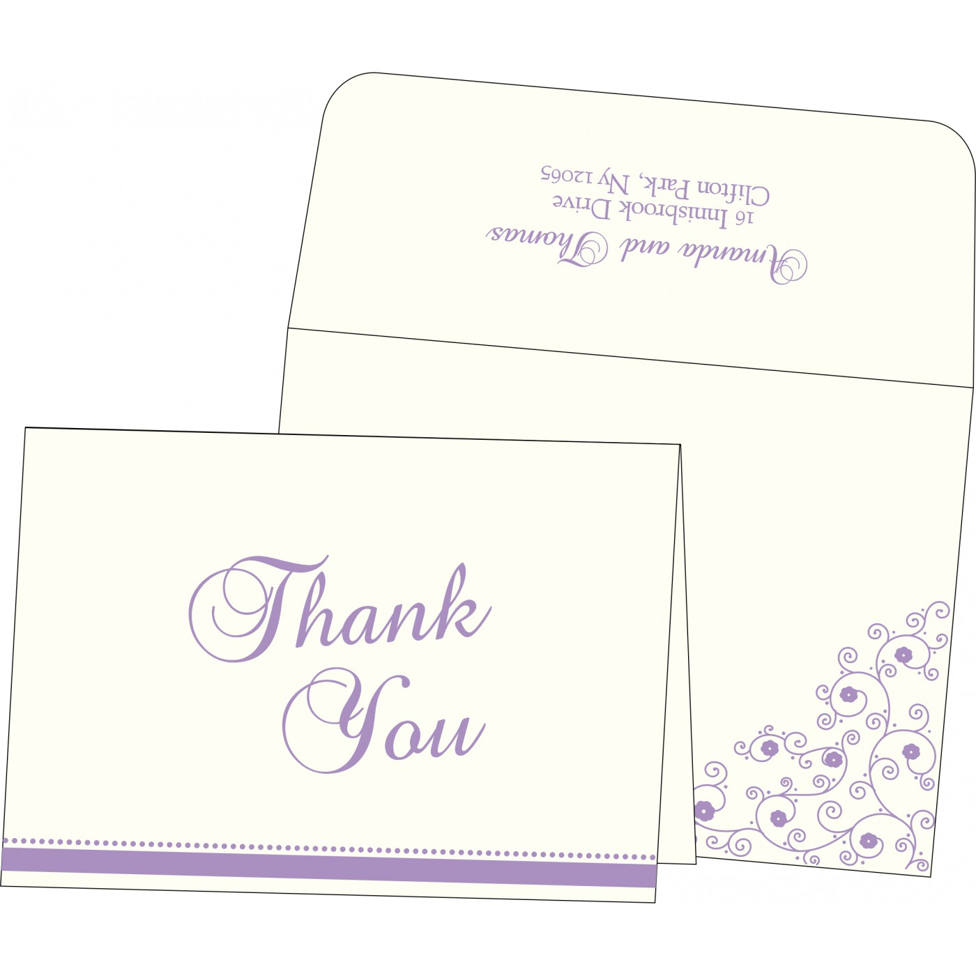 Thank You Cards : TYC-1431 - 123WeddingCards