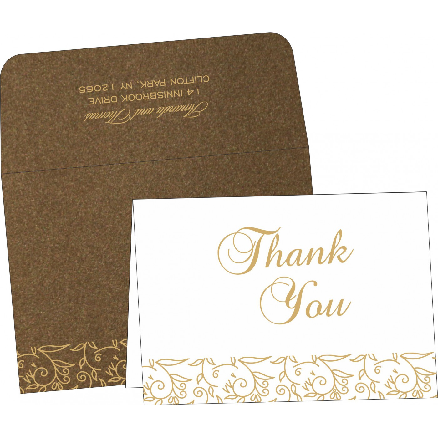 Thank You Cards : TYC-1447 - 123WeddingCards