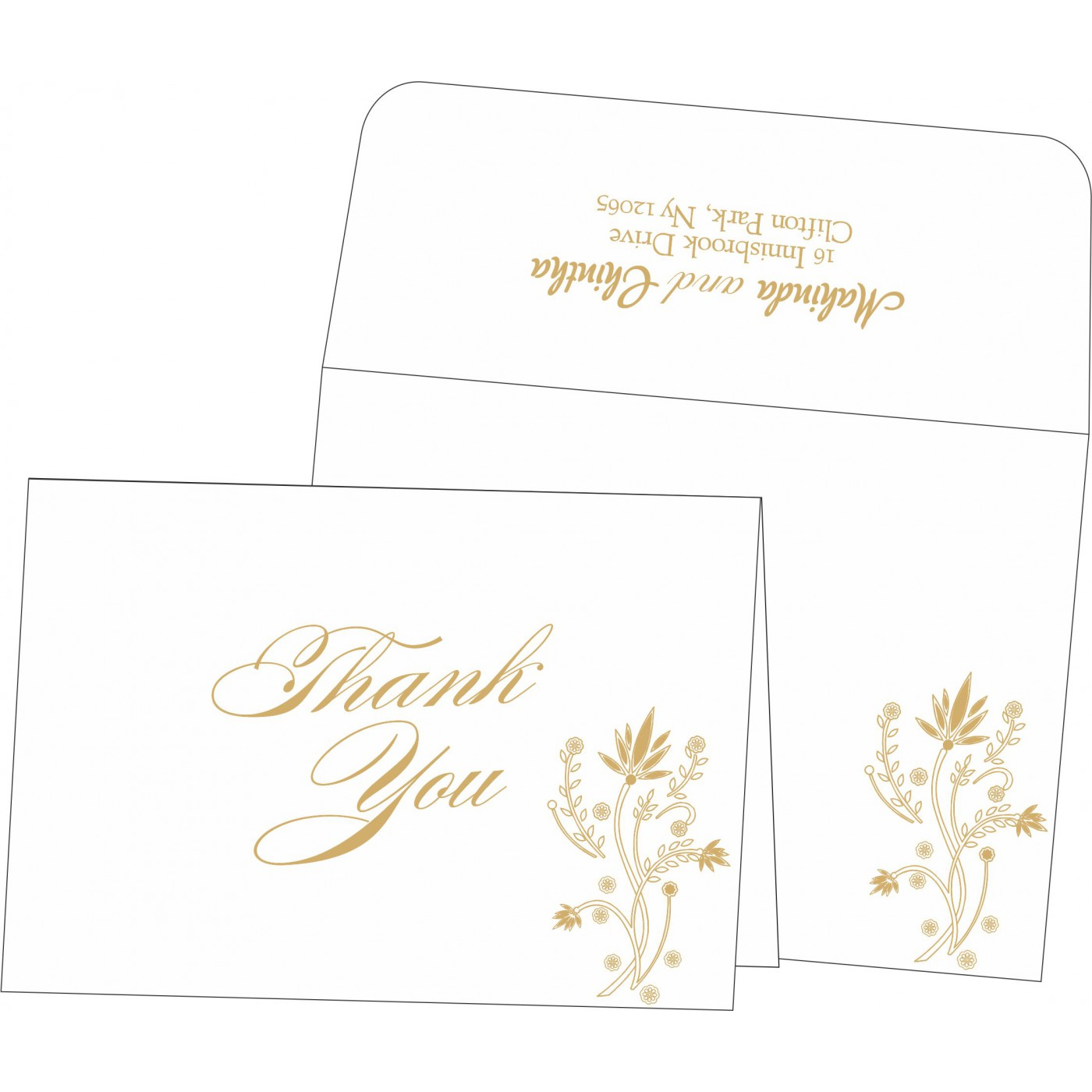 Thank You Cards : TYC-1495 - 123WeddingCards