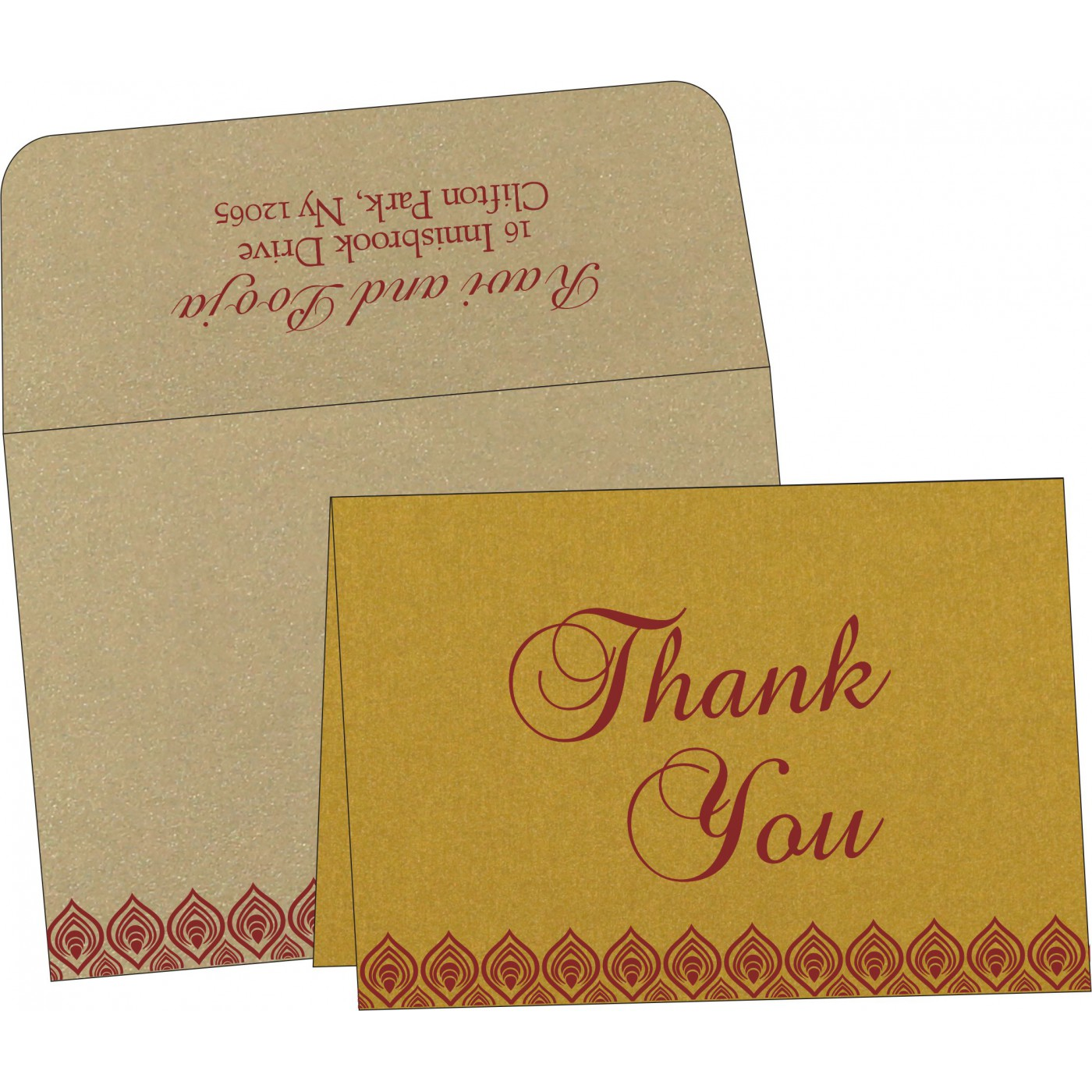 Thank You Cards : TYC-1506 - 123WeddingCards