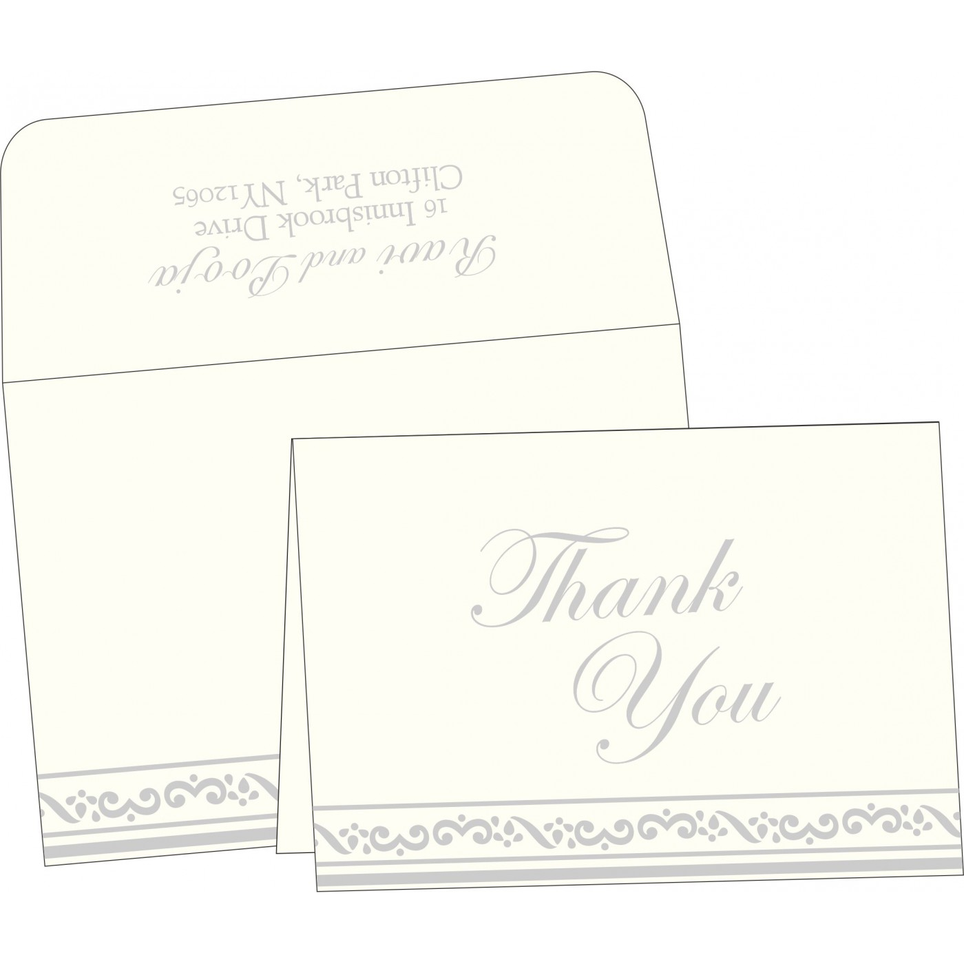 Thank You Cards : TYC-2016 - 123WeddingCards