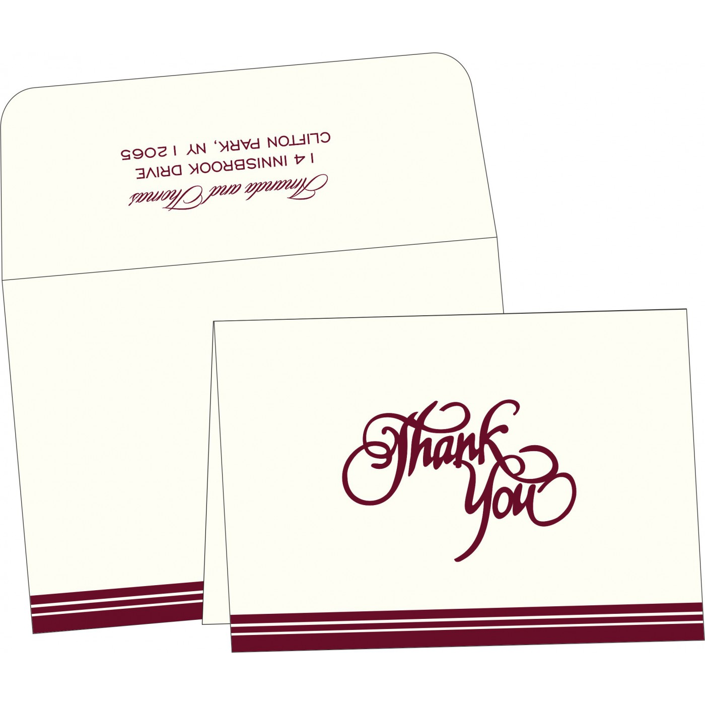 Thank You Cards : TYC-2054 - 123WeddingCards