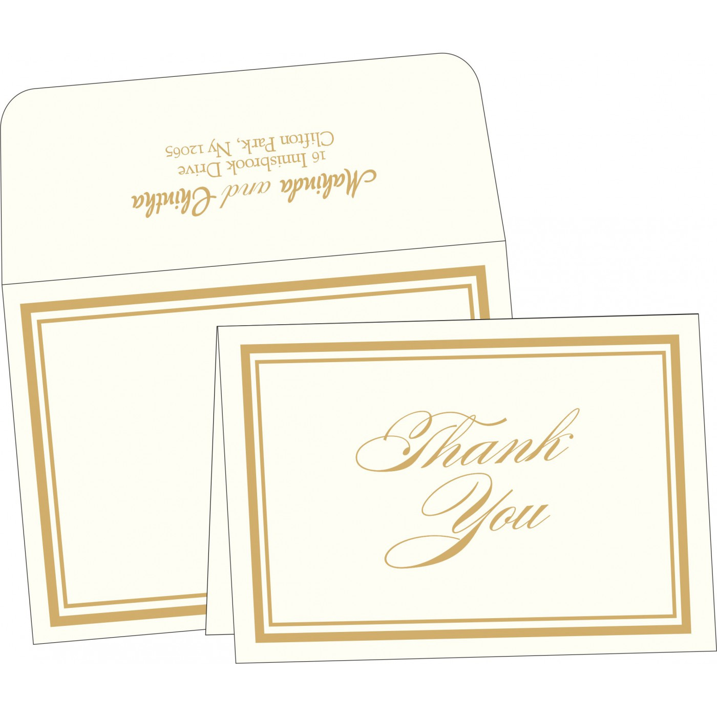 Thank You Cards : TYC-2076 - 123WeddingCards