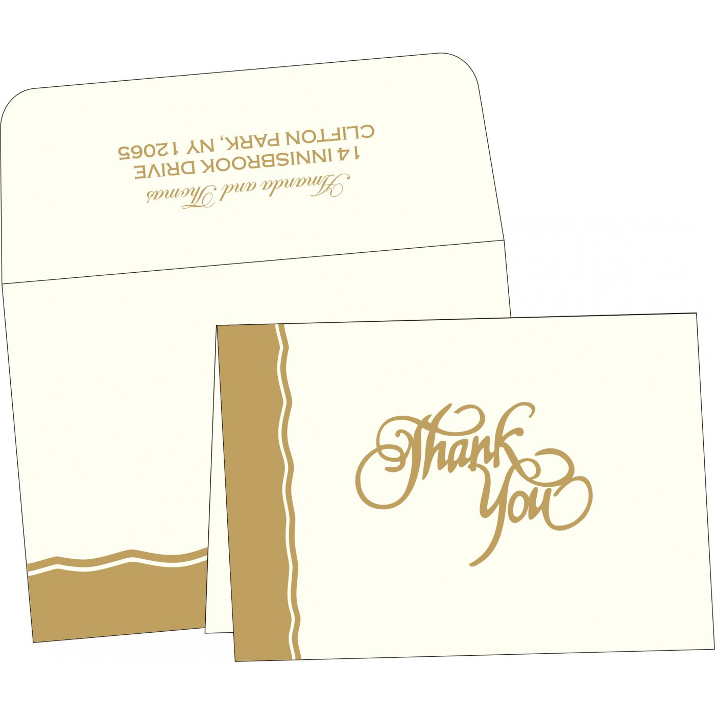 Thank You Cards : TYC-2117 - 123WeddingCards