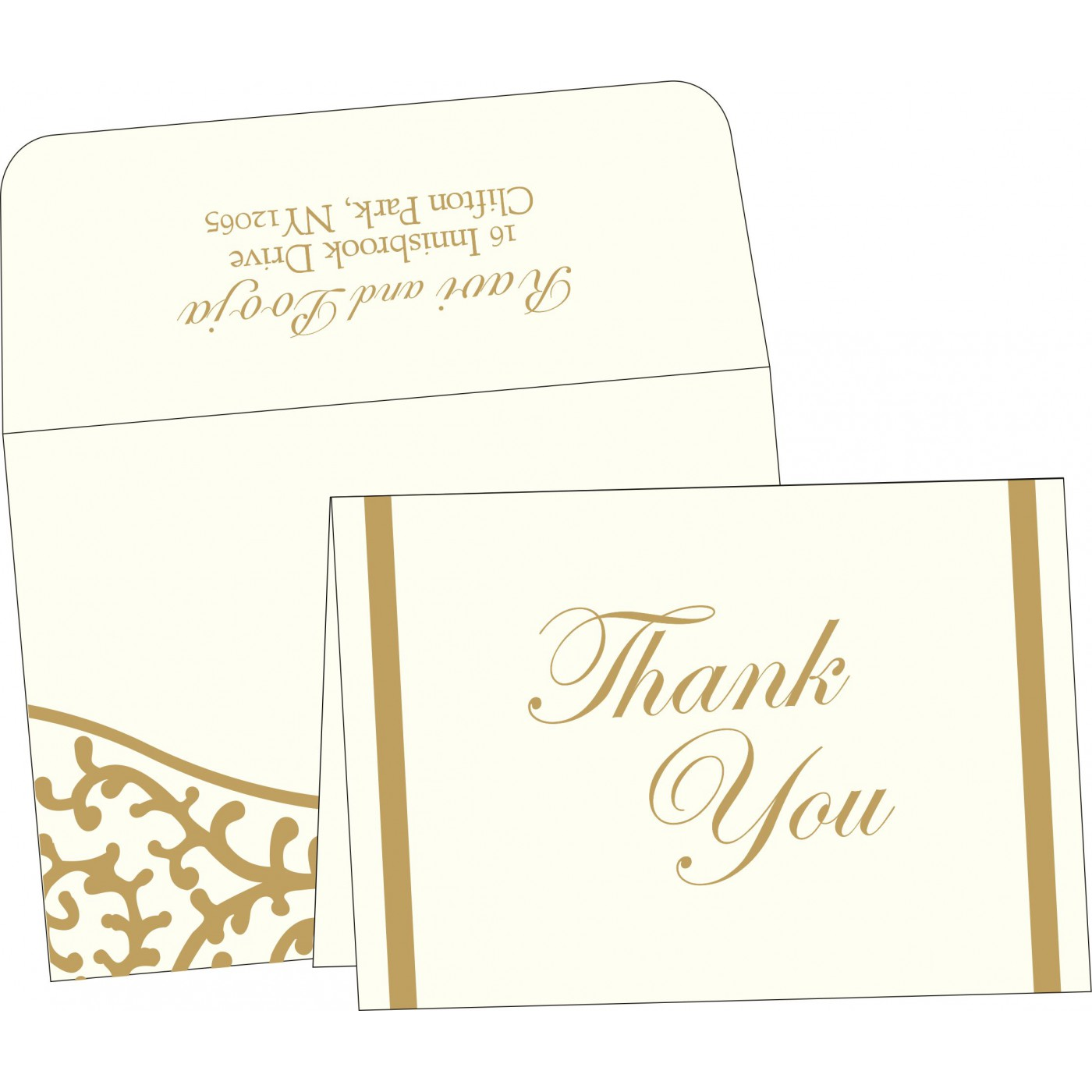 Thank You Cards : TYC-2151 - 123WeddingCards