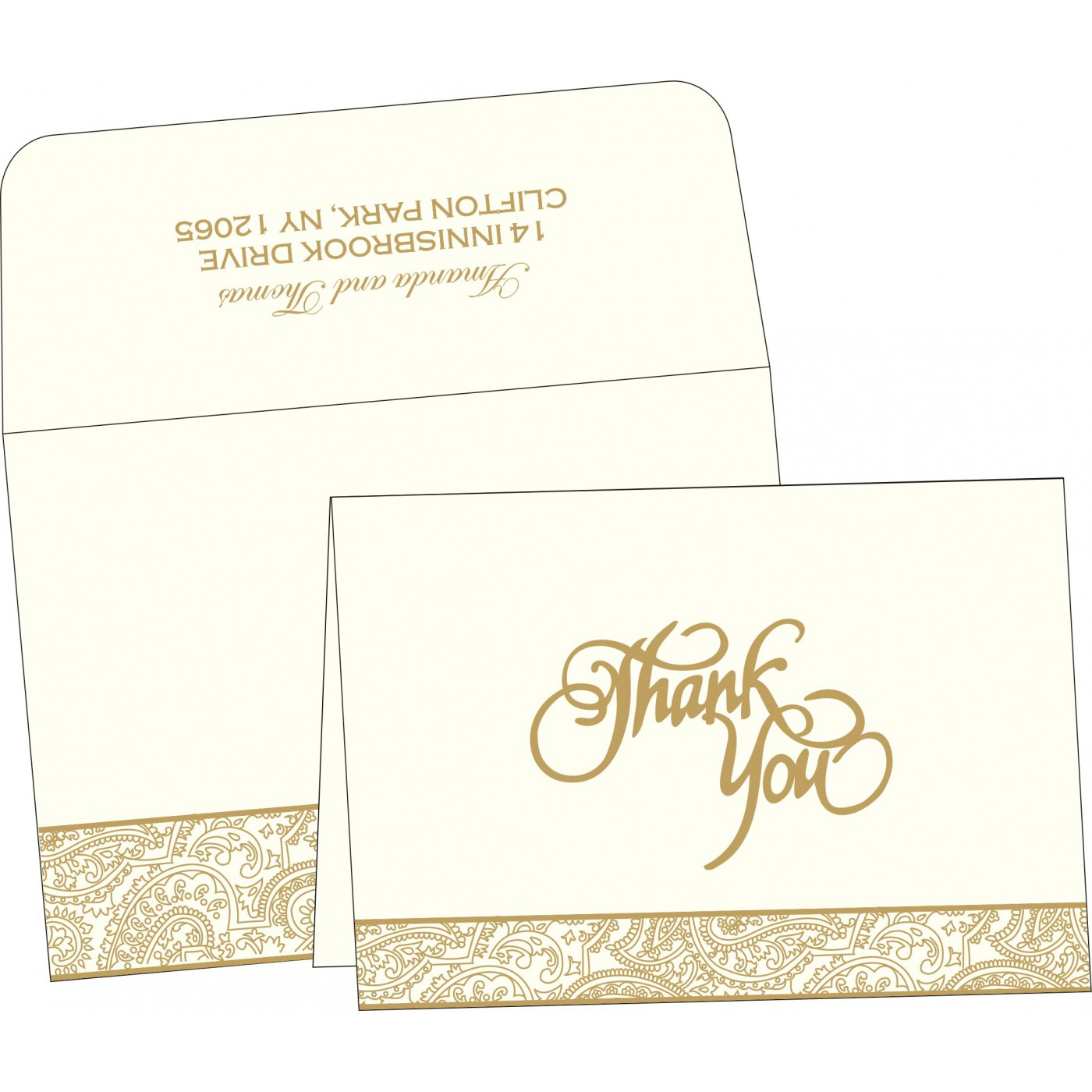 Thank You Cards : TYC-2170 - 123WeddingCards